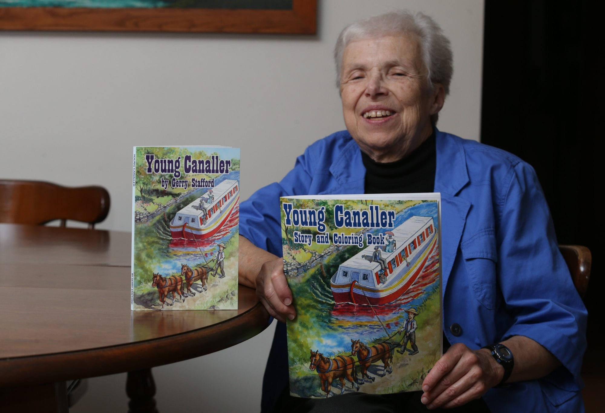 Retired teacher Gerry Stafford wrote two books on the Erie Canal, one geared to fourth graders, and a companion coloring book for younger children.