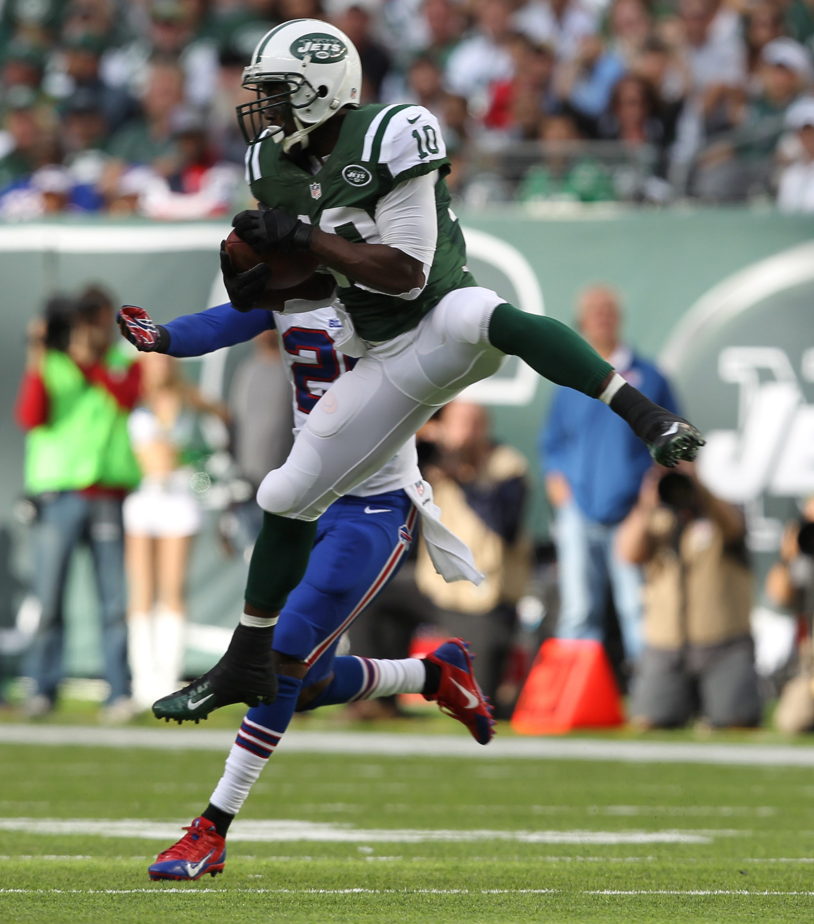 Bills defensive back Justin Rogers seemed to be a step behind the Jets' receivers all day.