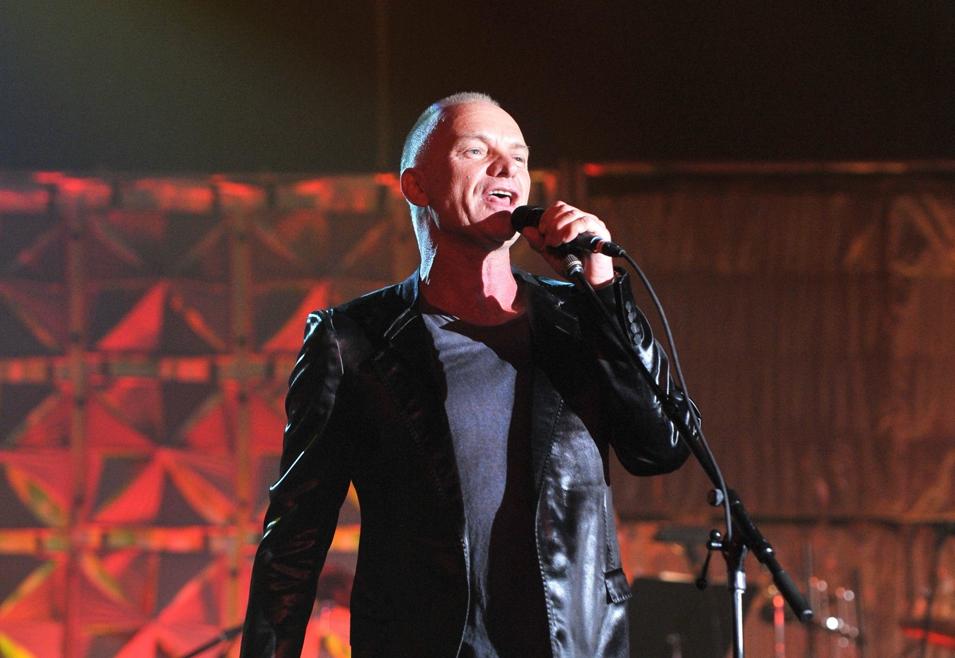 NEW YORK, NY - JUNE 13:  Sting performs onstage at the Songwriters Hall of Fame 44th Annual Induction and Awards Dinner at the New York Marriott Marquis on June 13, 2013 in New York City.  (Photo by Larry Busacca/Getty Images for Songwriters Hall Of Fame)