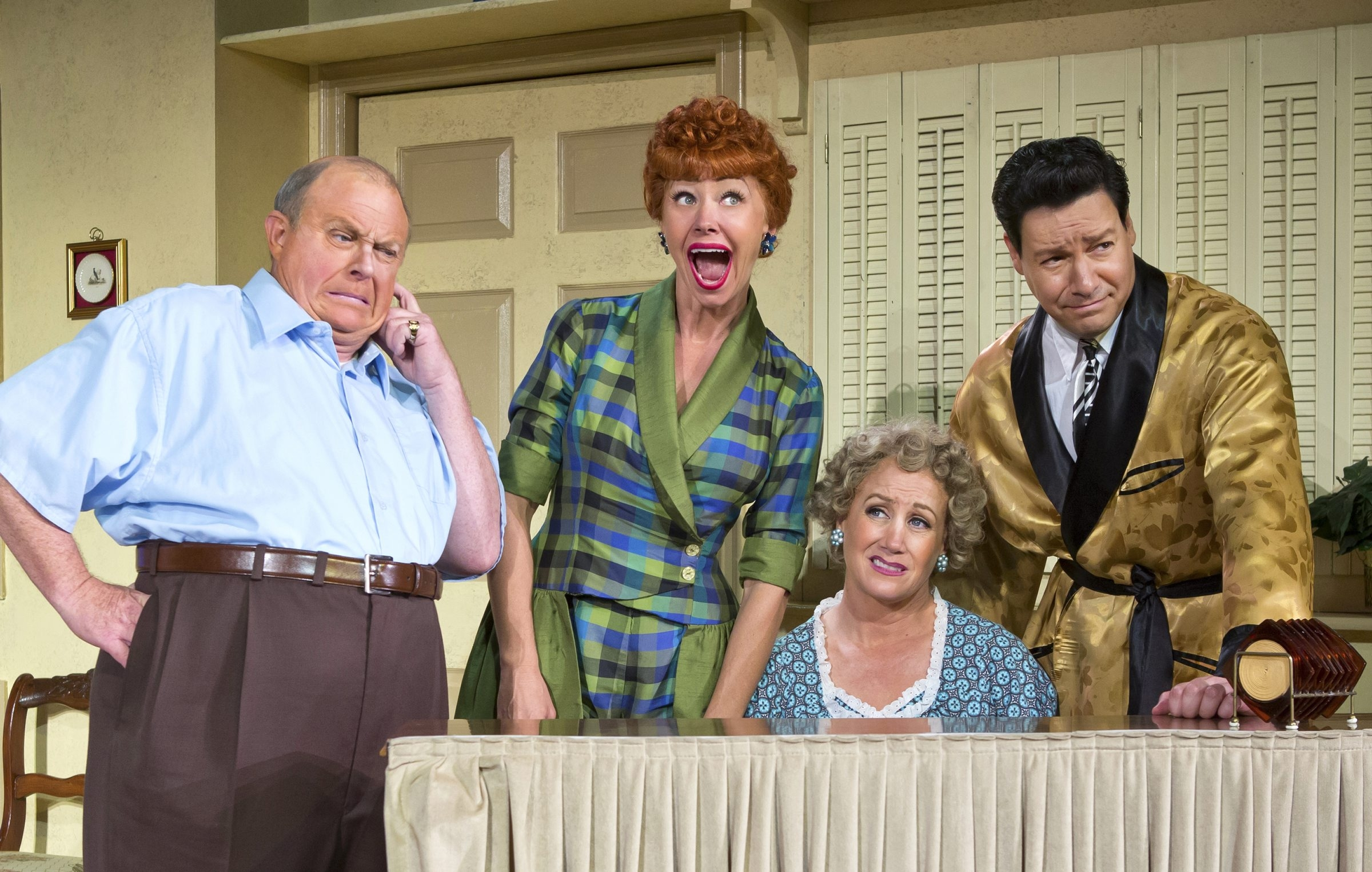 "From left, Kevin Remington, Sirena Irwin, Joanna Daniels and Bill Mendieta star in ""I Love Lucy Live on Stage."""