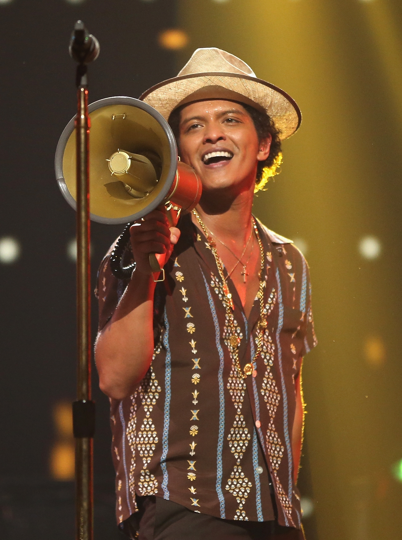 Recording artist Bruno Mars was a big hit with the crowd Saturday at the iHeartRadio Music Festival at the MGM Grand Garden Arena in Las Vegas.