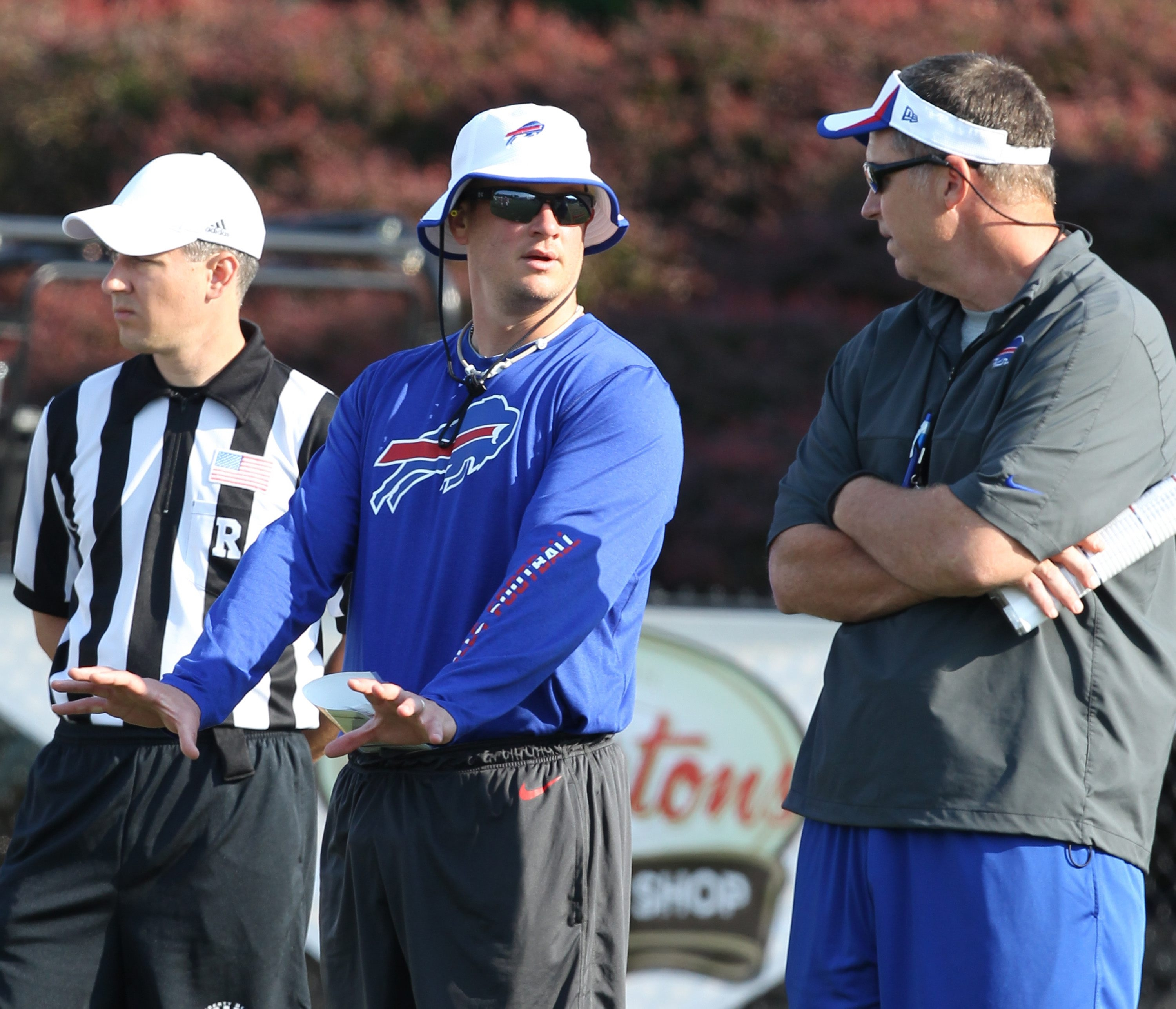 Bills offensive coordinator Nathaniel Hackett has no intention of slowing down the pace of the offense.