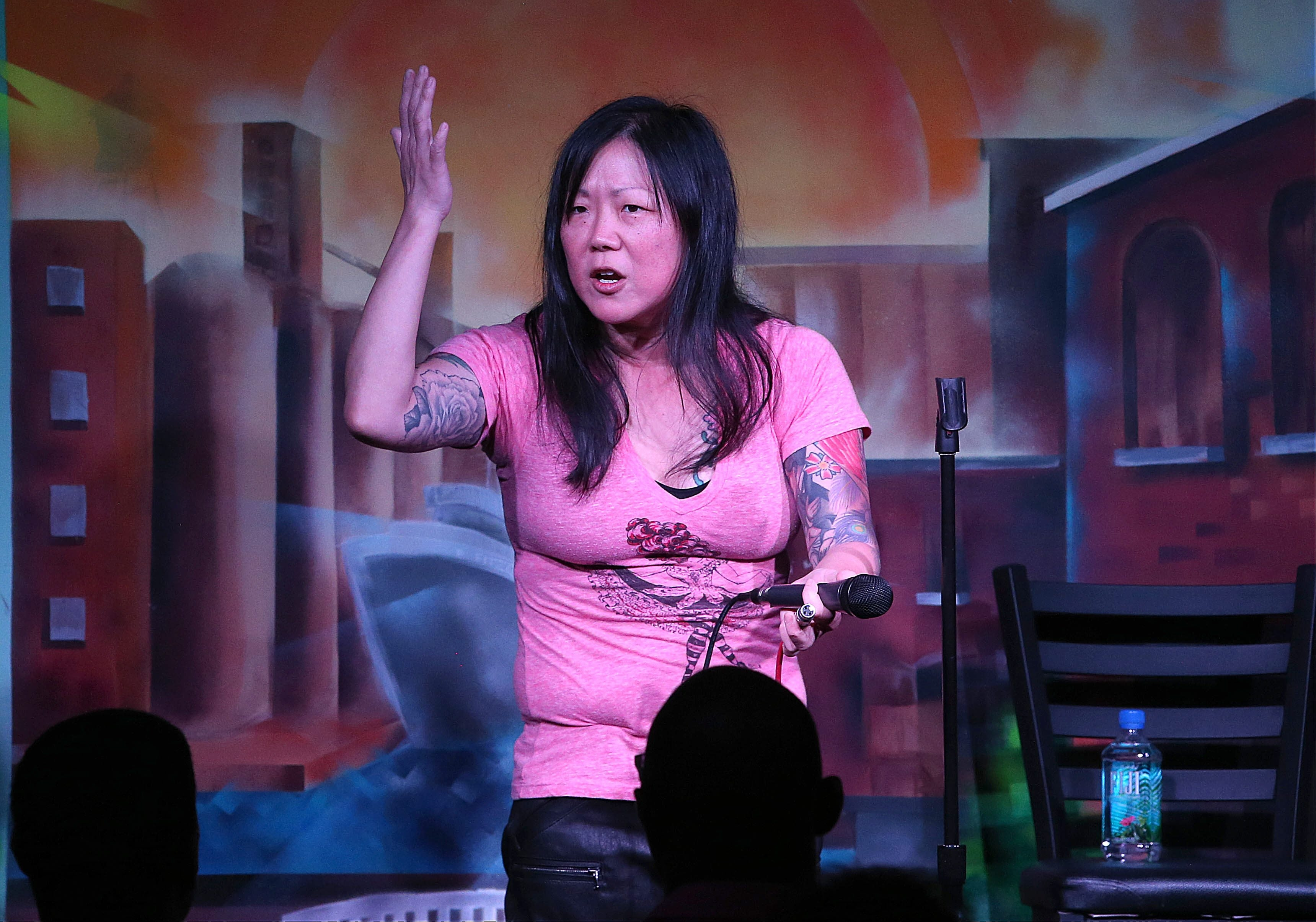 Margaret Cho performs her stand-up comedy routine in Friday night in the Helium Comedy Club. She returns for two shows tonight.