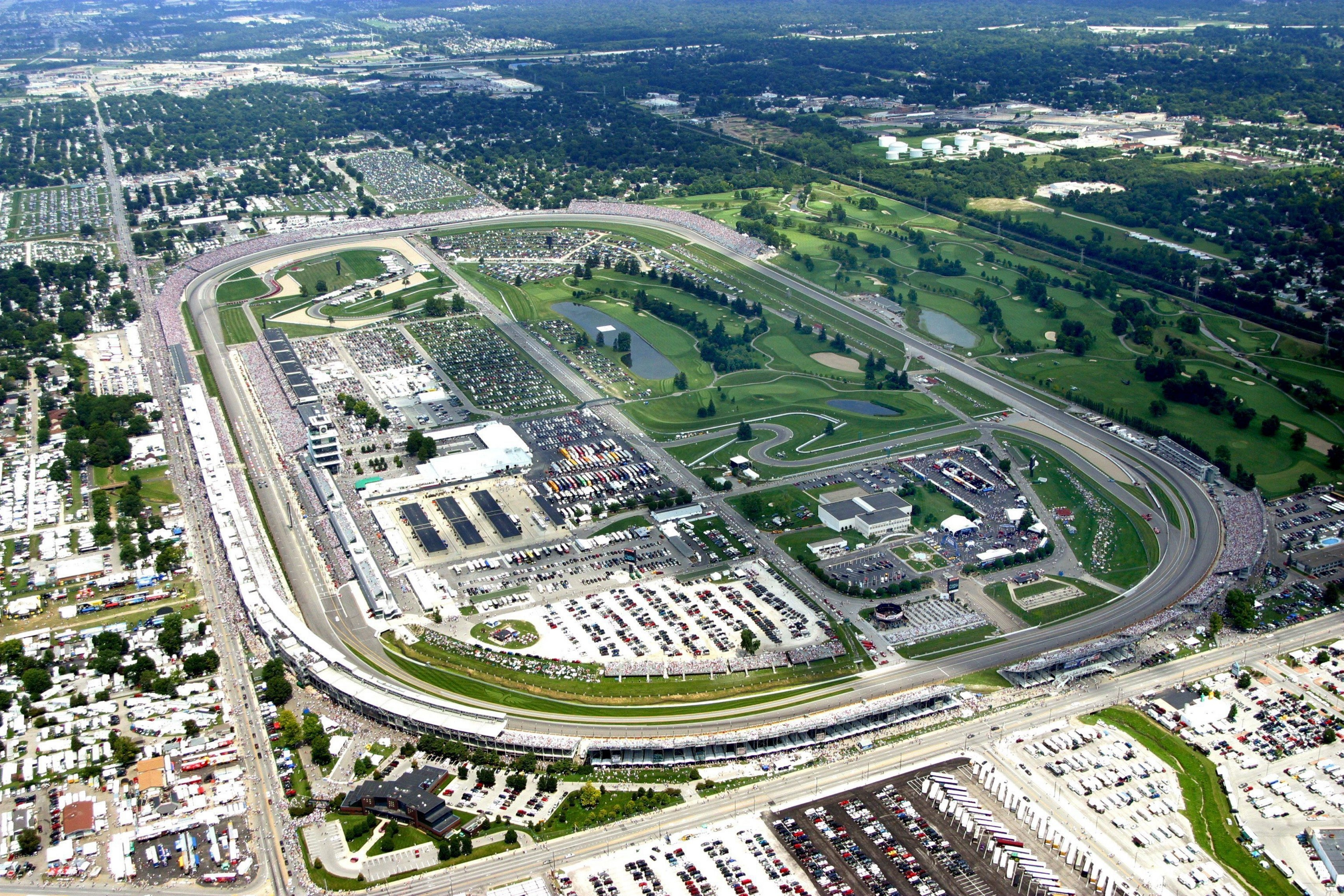 Brickyard Crossing, part of the state's Pete Dye Golf Trail, includes four holes inside the famed Indianapolis Motor Speedway. (Courtesy of Brickyard Crossing/MCT)