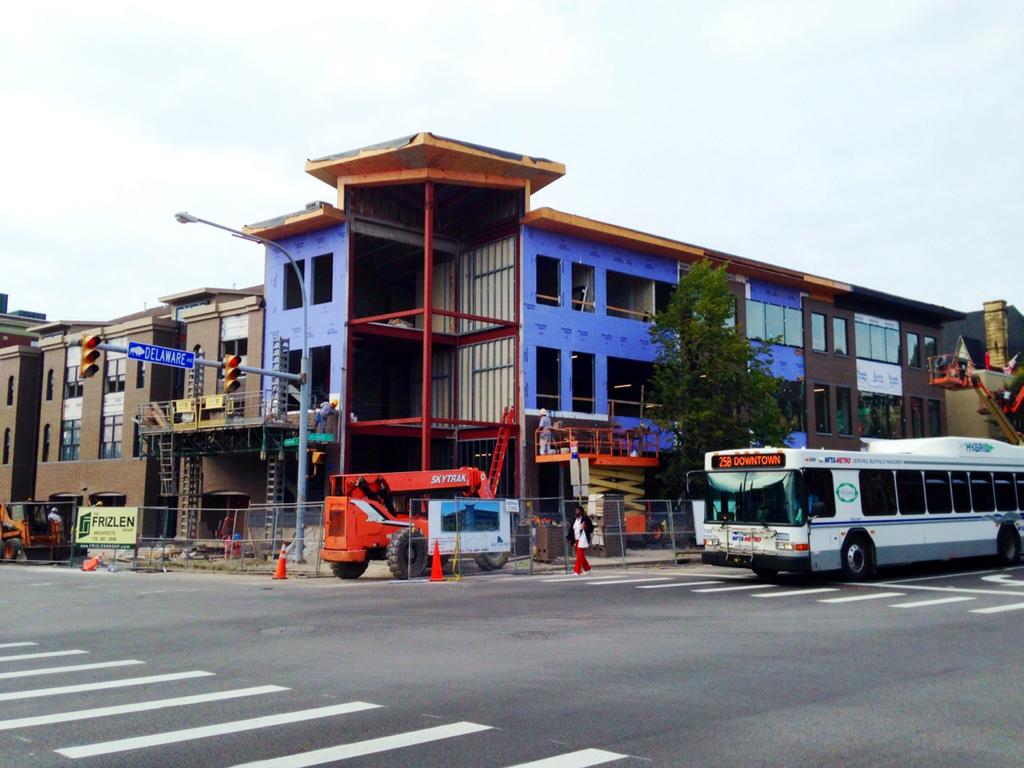 Mid-October is expected to see completion of Twain Tower, which sits on the site of the former Cloister Restaurant and onetime home of Mark Twain at 468 Delaware Ave.