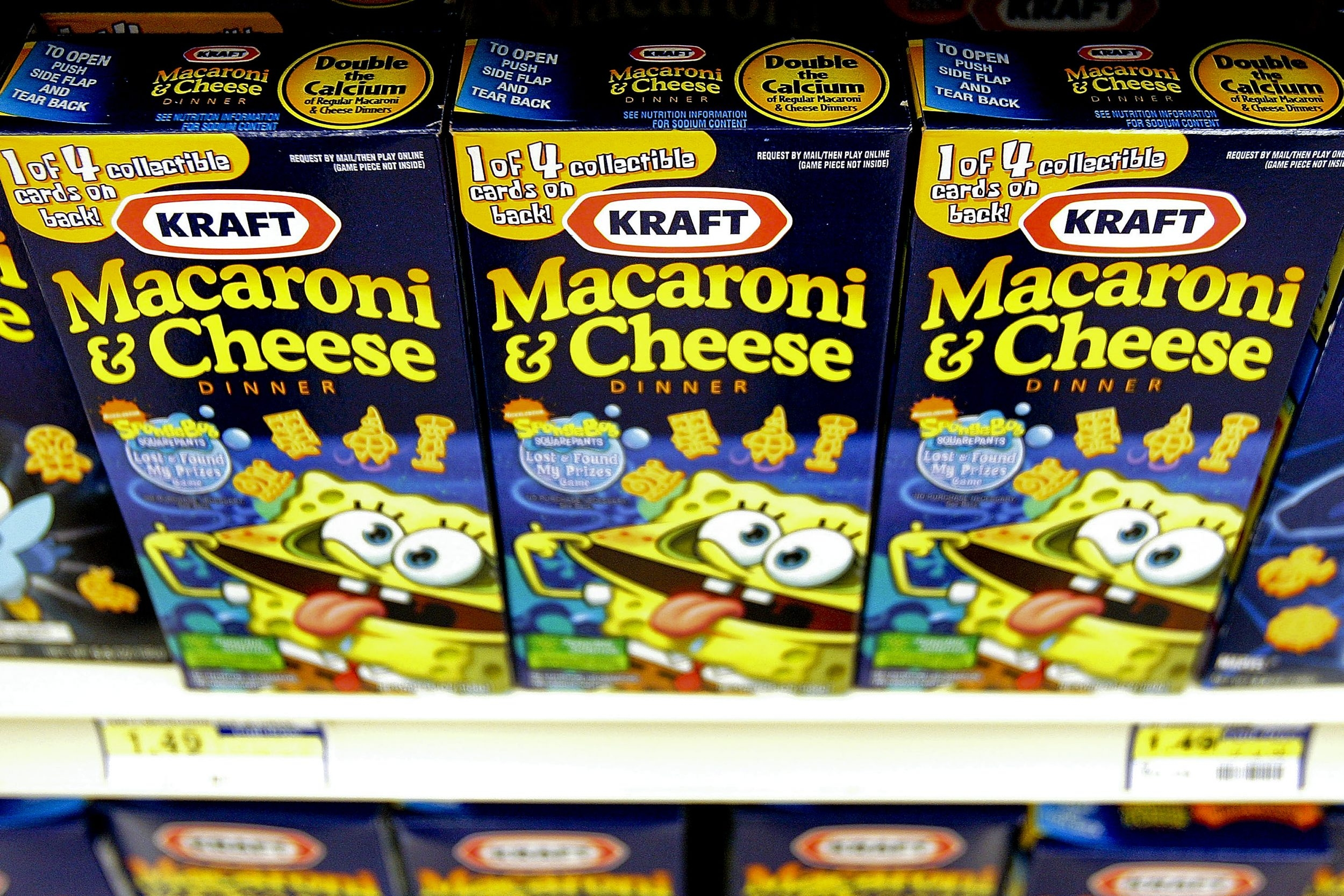 Kraft's new recipes, starting early next year, will be for its macaroni and cheese varieties that come in the SpongeBob Squarepants, Halloween and winter shapes.