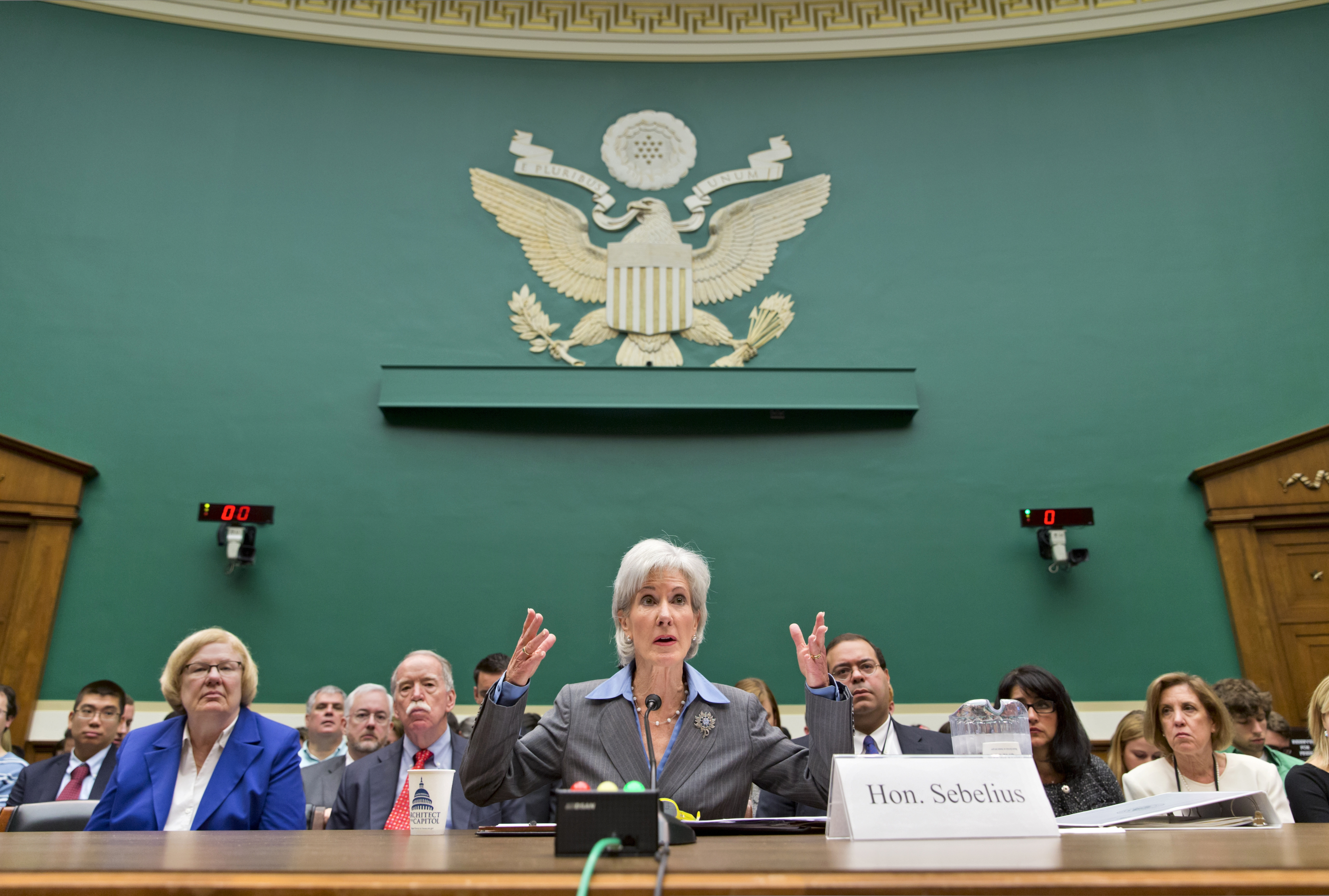 Health and Human Services Secretary Kathleen Sebelius testifies Wednesday before a House committee.