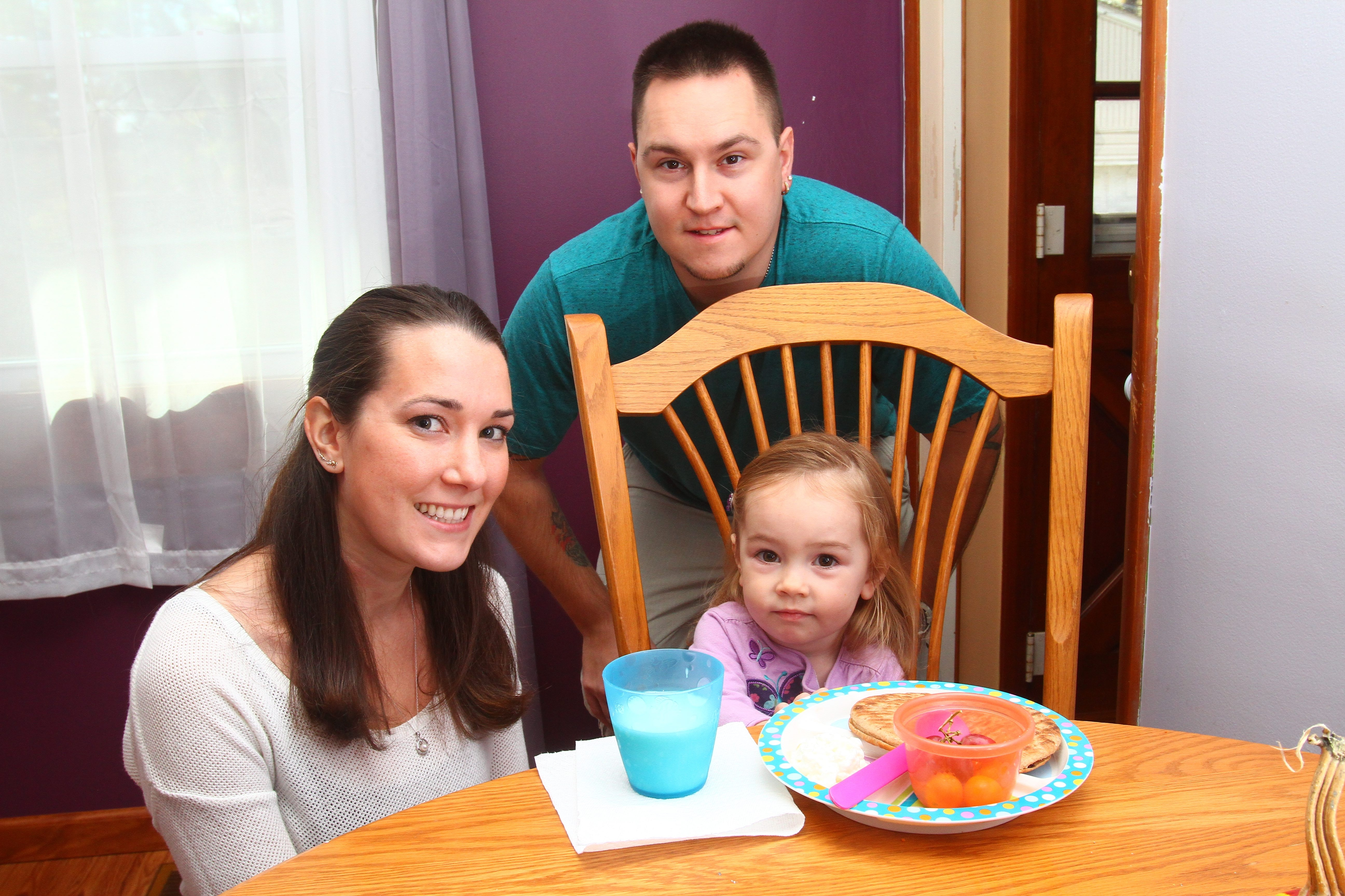 Danyel Brewer, husband Rich and 2-year-old daughter, Kayliegh.
