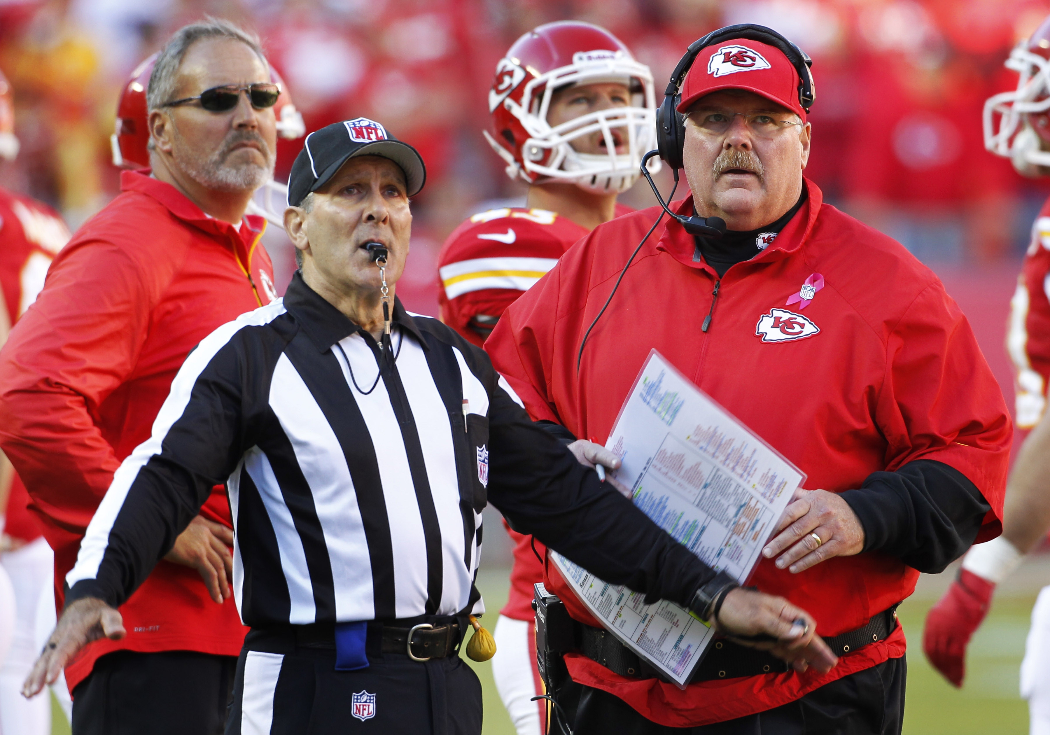 Andy Reid has coached the Chiefs to 8-0 this season.