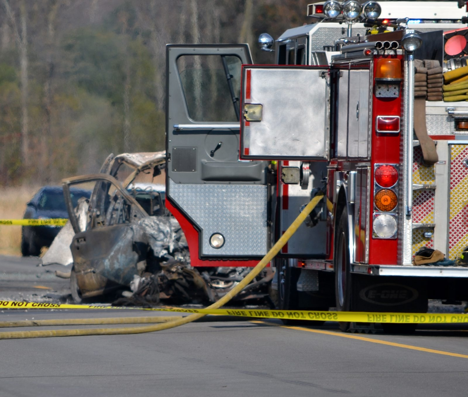 The scene of today's fatal crash in Lockport.