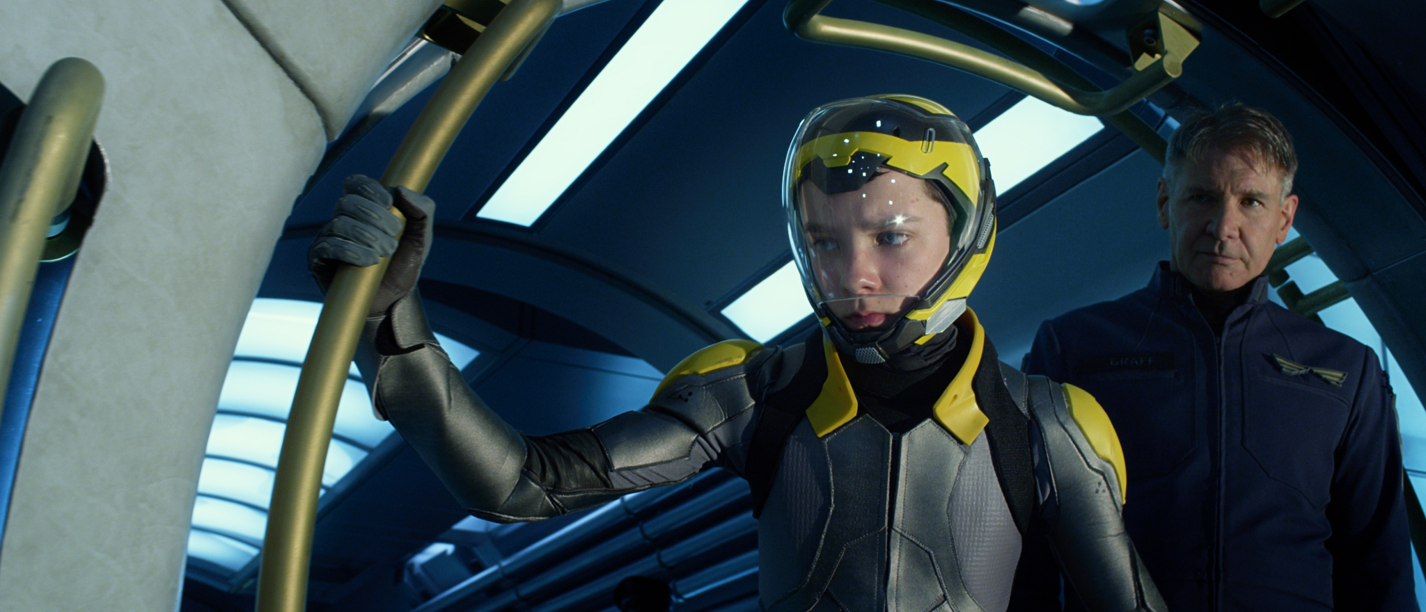 Asa Butterfield, left, and Harrison Ford star in 'Ender's Game' based on the popular novel by Orson Scott Card.