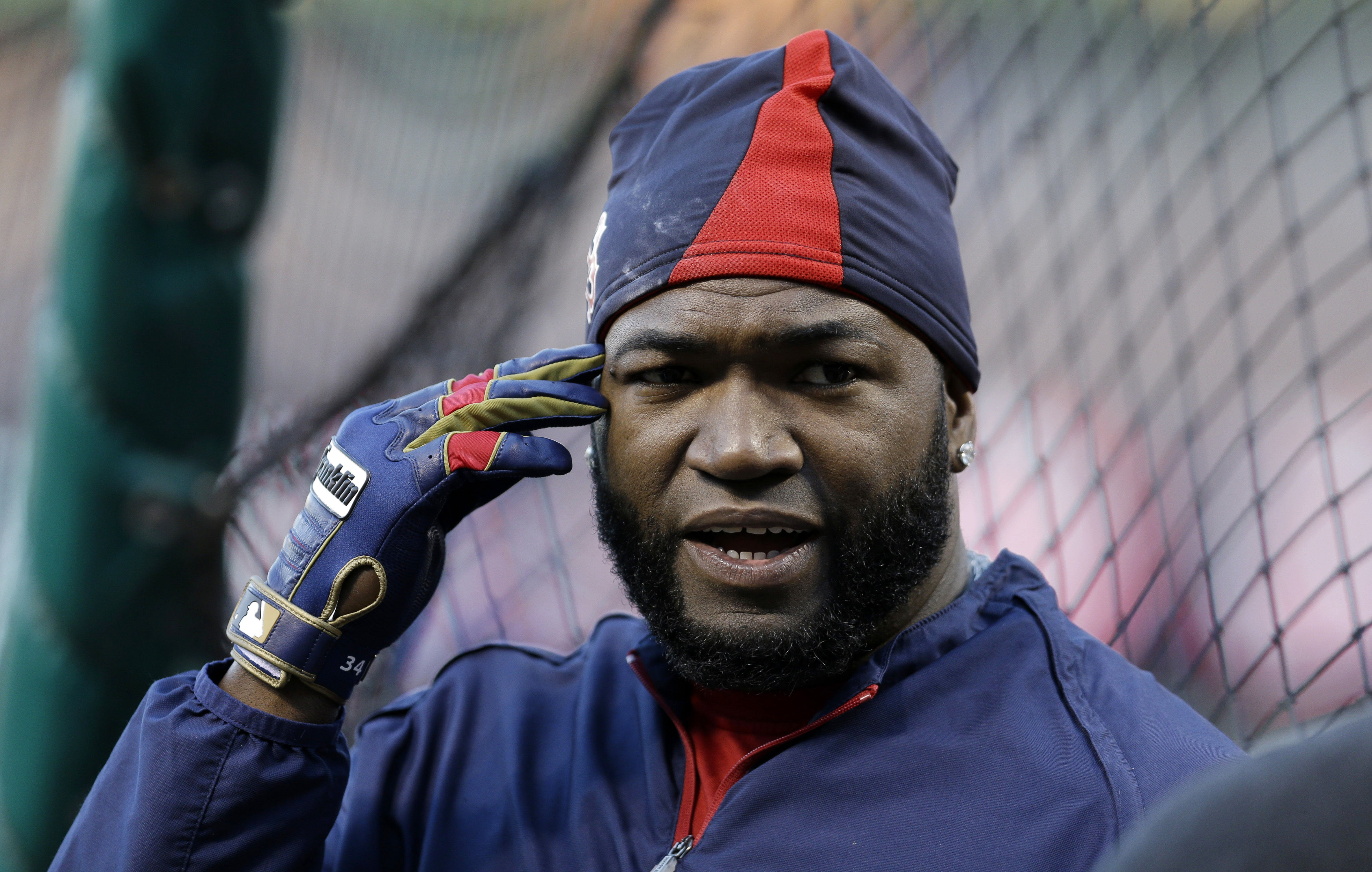 David Ortiz will play first base in Game Three tonight at Busch Stadium in St. Louis because the Red Sox need his bat in the lineup.