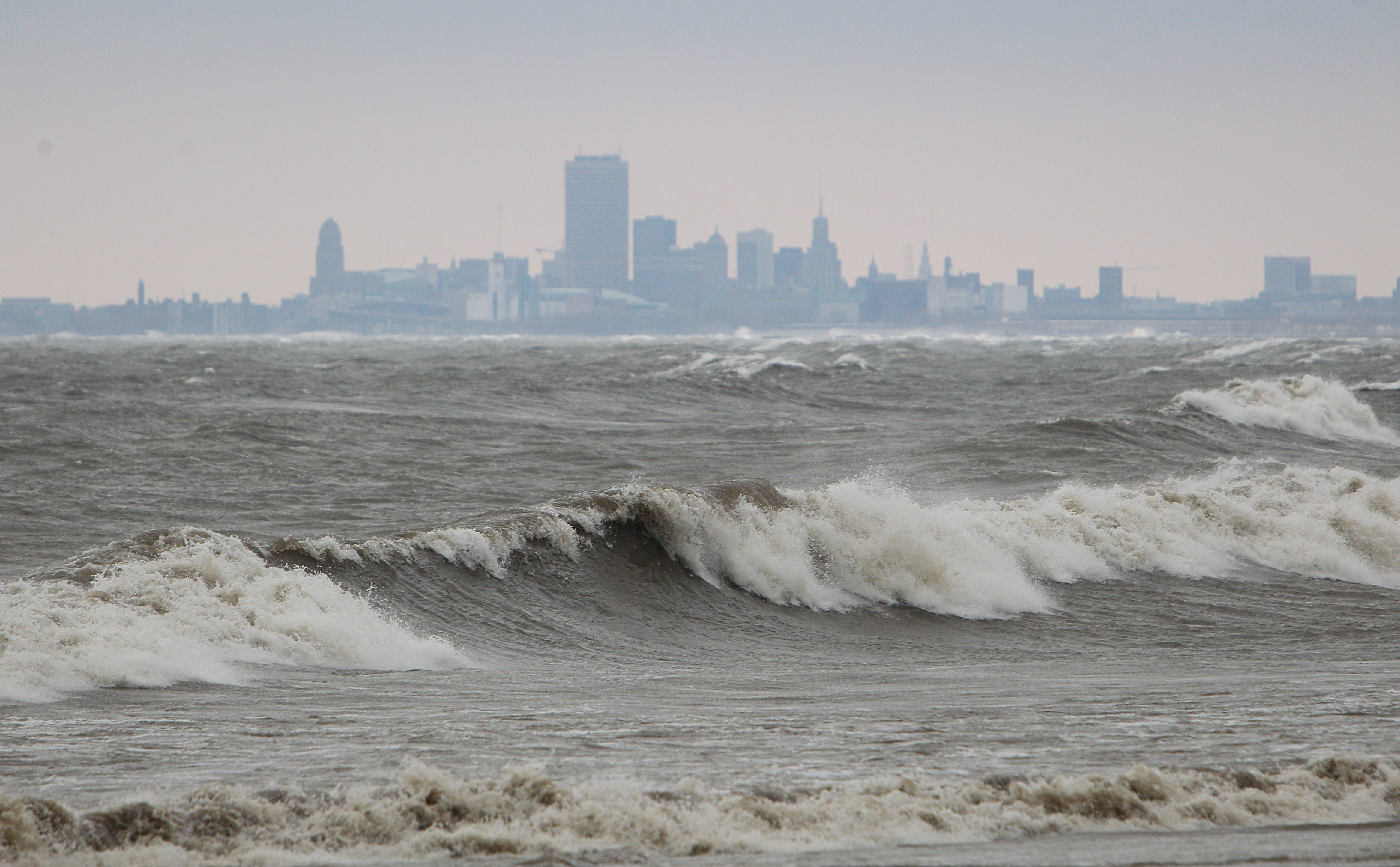Lake Erie's water level in October was 10 inches higher than the previous October, recovering from a historic dropoff in 2012.