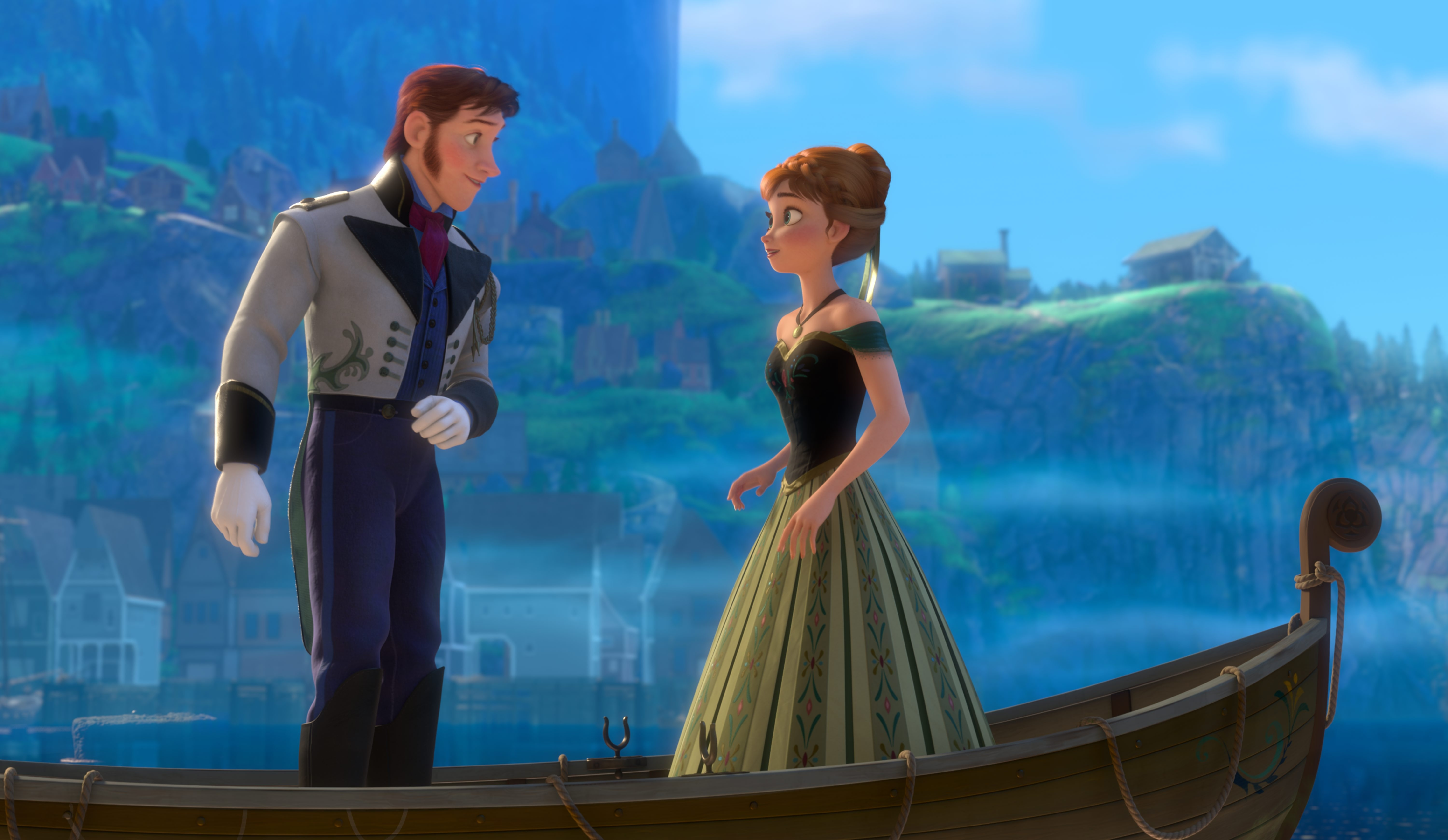 """Hans tries to woo Anna in a scene from Disney's new animated feature """"Frozen."""""""