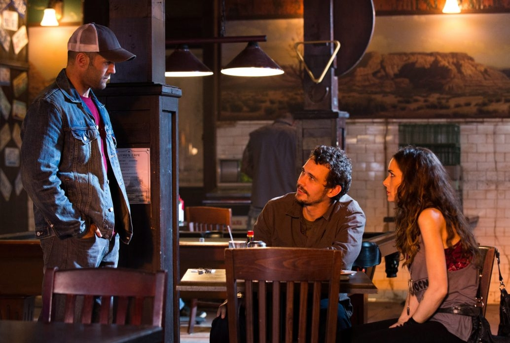 """From left, Jason Statham, James Franco and Winona Ryder in """"Homefront."""""""