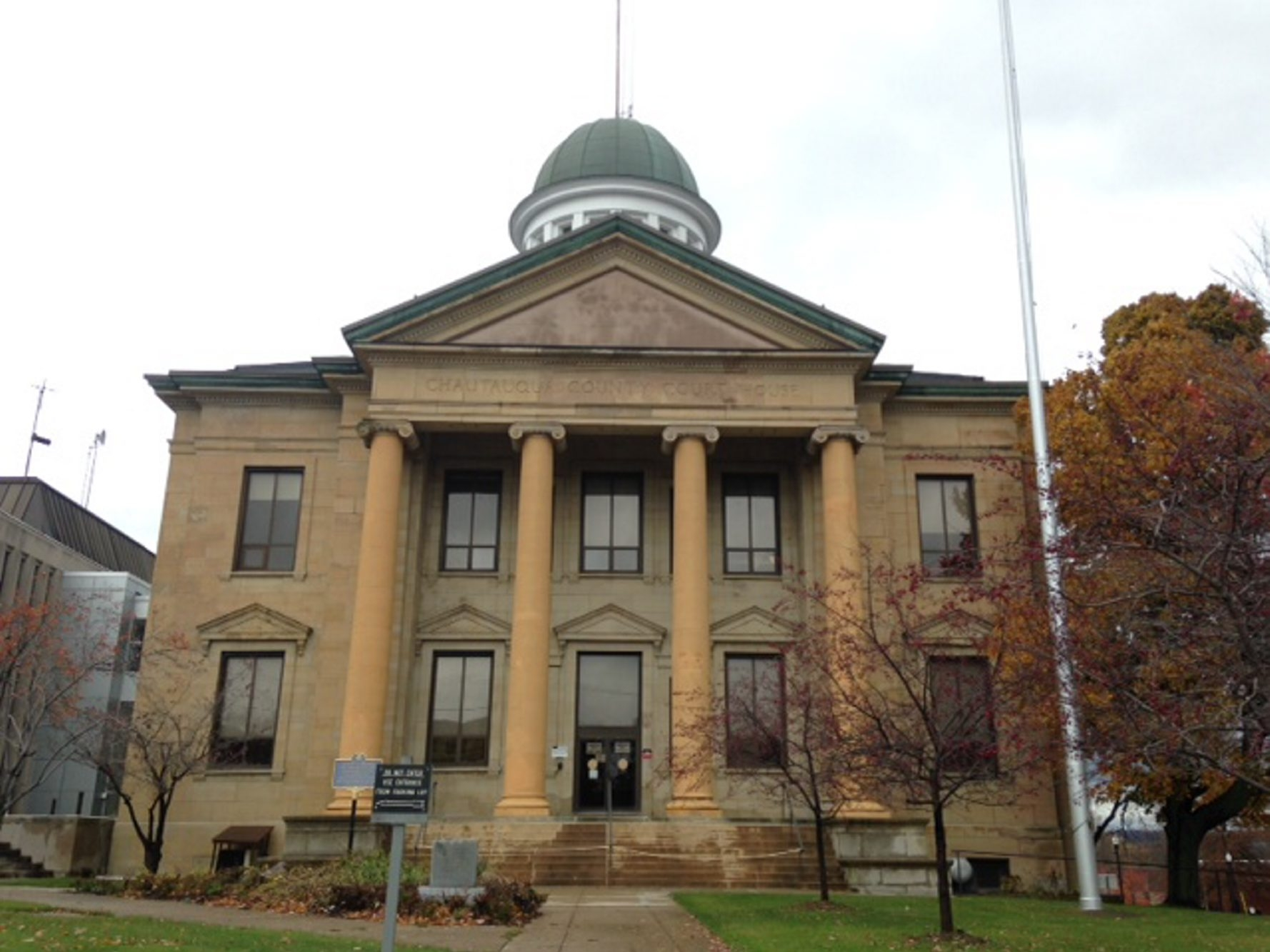 """The Chautauqua County Courthouse in Mayville where the jury will hear closing arguments Friday in the murder trial of Anthony """"Rob"""" Taglianetti, accused in the September 2012 slaying of Clymer School Superintendent Keith Reed. (Mark Mulville/Buffalo News)"""
