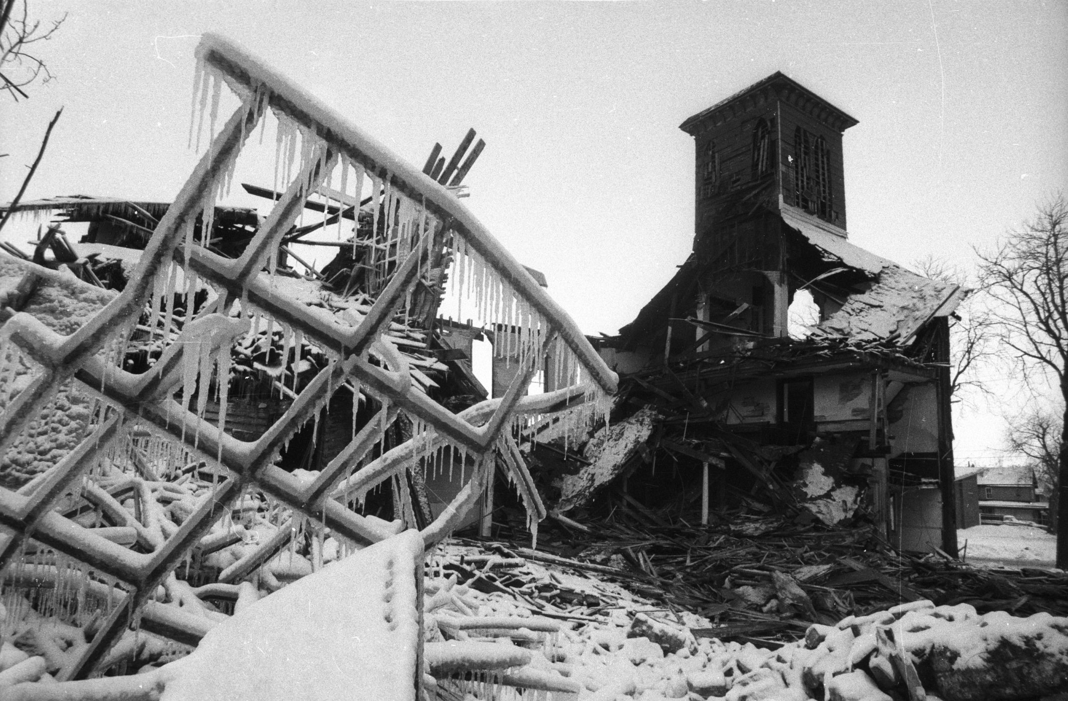 Little was left standing after the Dec. 27, 1983, explosion at a warehouse on North Division Street.