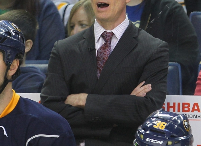 Sabres coach Ron Rolston seems to be over his head as an NHL head coach. (Mark Mulville/Buffalo News)