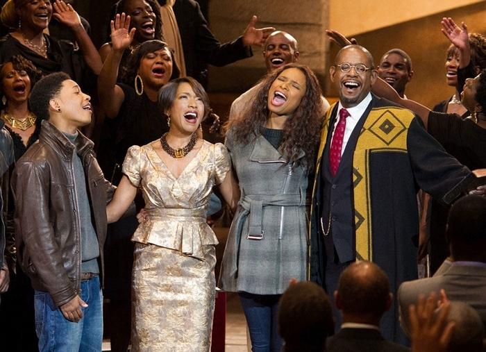 """Starring in """"Black Nativity"""" are, from left, Jacob Latimore, Angela Bassett, Jennifer Hudson and Forest Whitaker."""