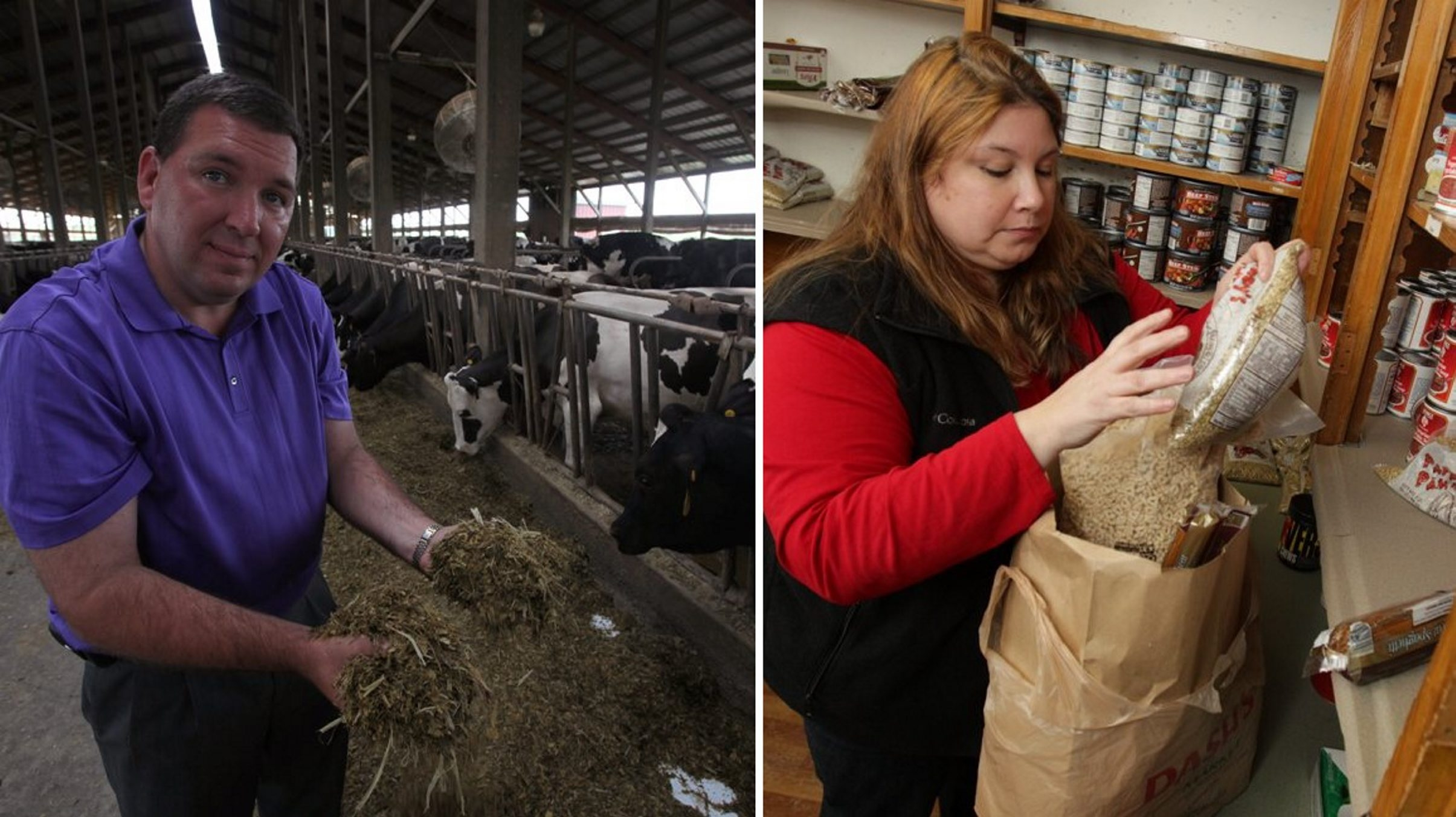 """Dean Norton, president of the New York Farm Bureau, pictured in a file photo at his Elba dairy farm, lauds the farm bill as """"an economic development program for rural New York.""""  Meanwhile, Kelly Ann Kowalski, director of Buffalo nonprofit Food for All, says """"people will rely more on food pantries because of this."""""""