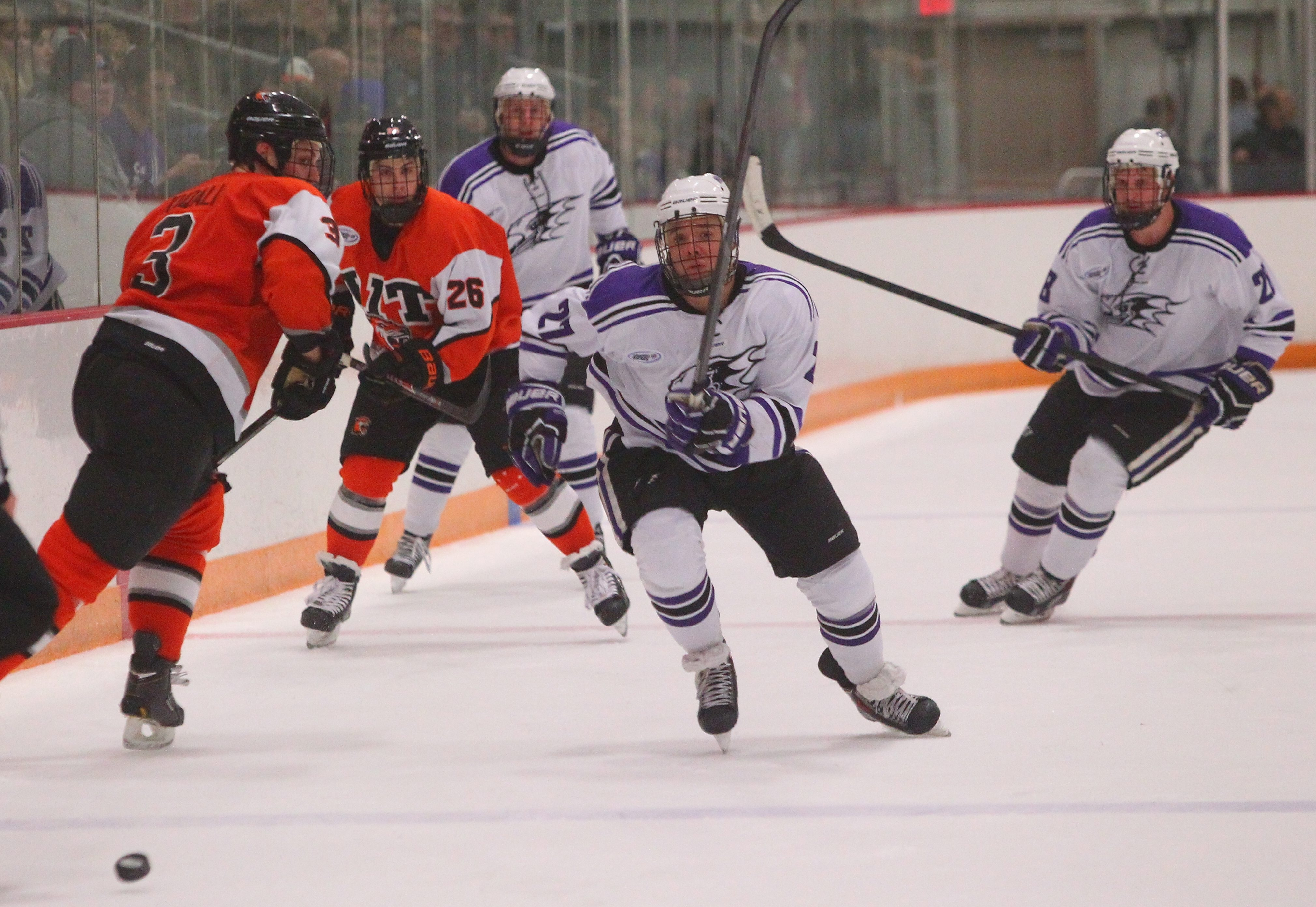 Niagara's Isaac Kohls has helped the Purple Eagles to a 4-3-2 January record.