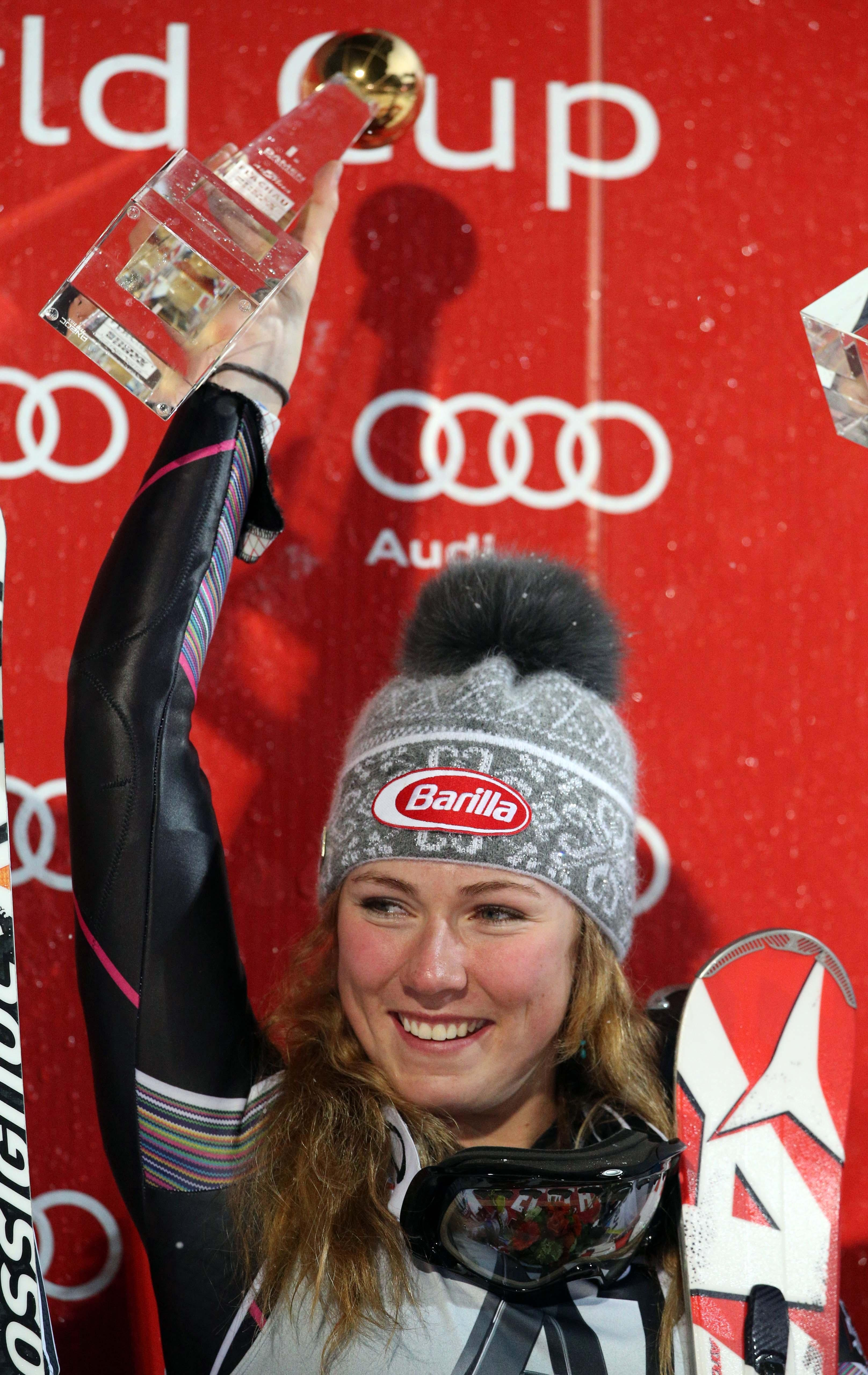 Mikaela Shiffrin is clear favorite for a gold medal in the slalom.