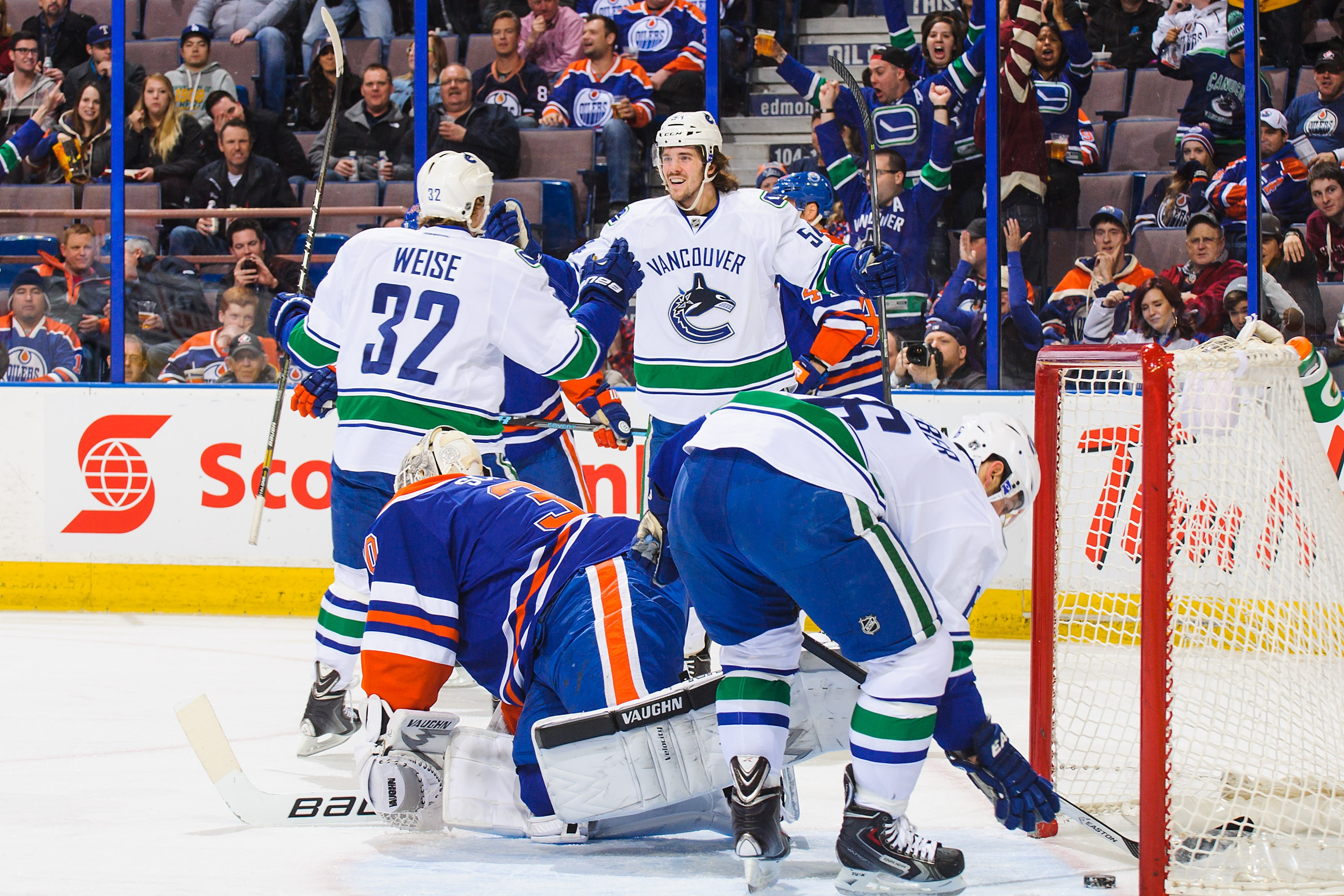 Canucks rookie Kellan Lain scored his first NHL goal in his second career game.