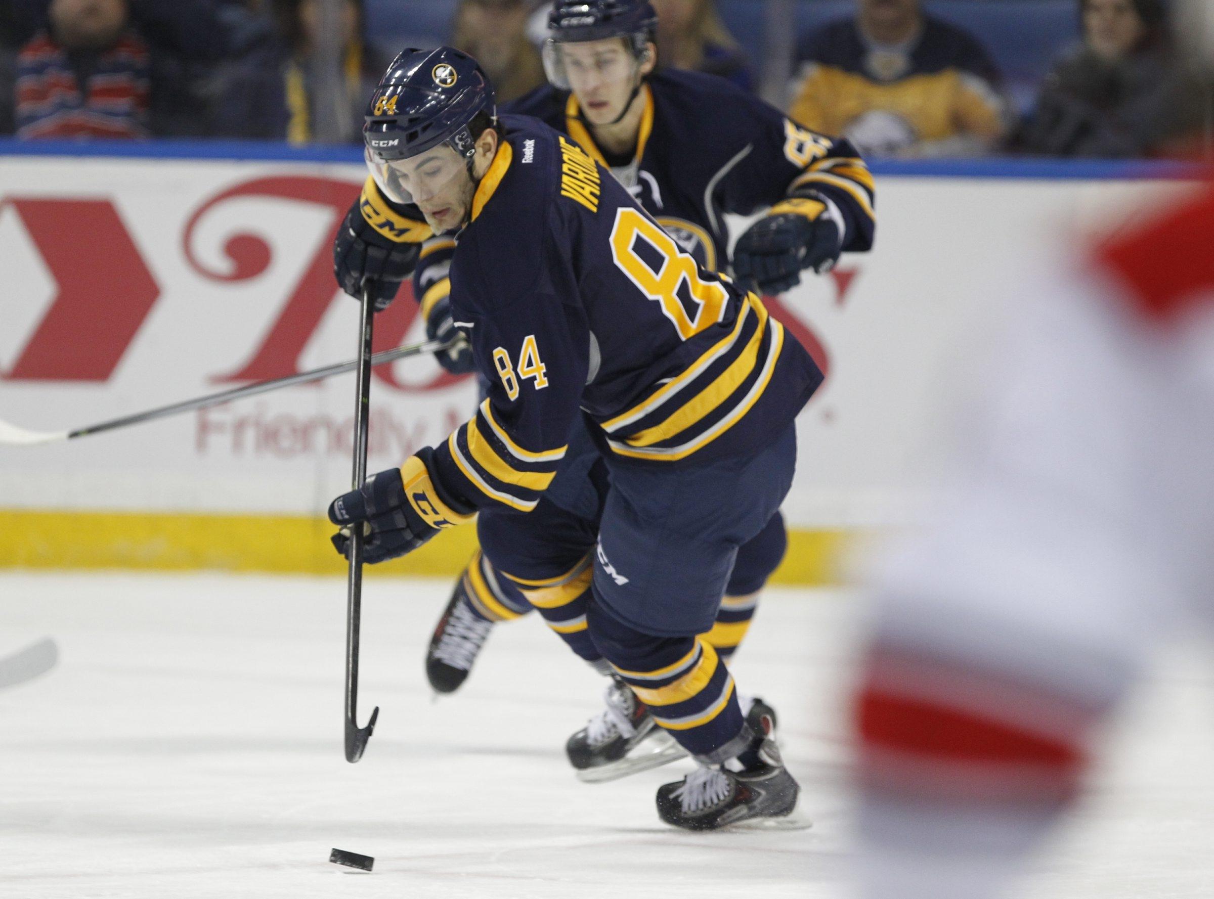 Phil Varone makes his NHL debut at First Niagara Center on Thursday against Carolina.