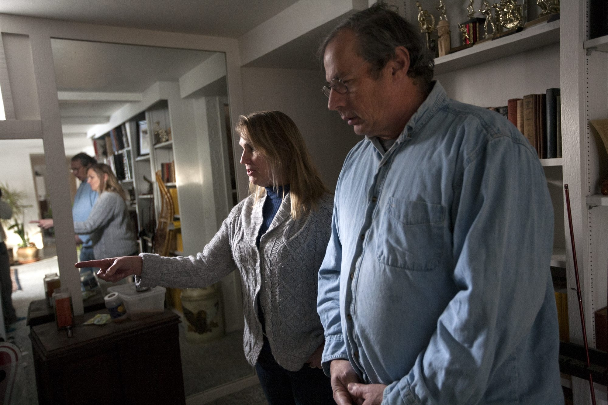 Bob and Liz McLean, who lost their jobs during the recession, discuss the renovations they are working on, preparing for the day they need to sell their house in Prior Lake, Minn. Their house is not currently on the market, and they don't plan to sell anytime soon.