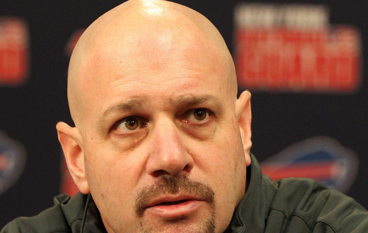 Mike Pettine was Bills defensive coordinator in 2013. (Mark Mulville/Buffalo News)