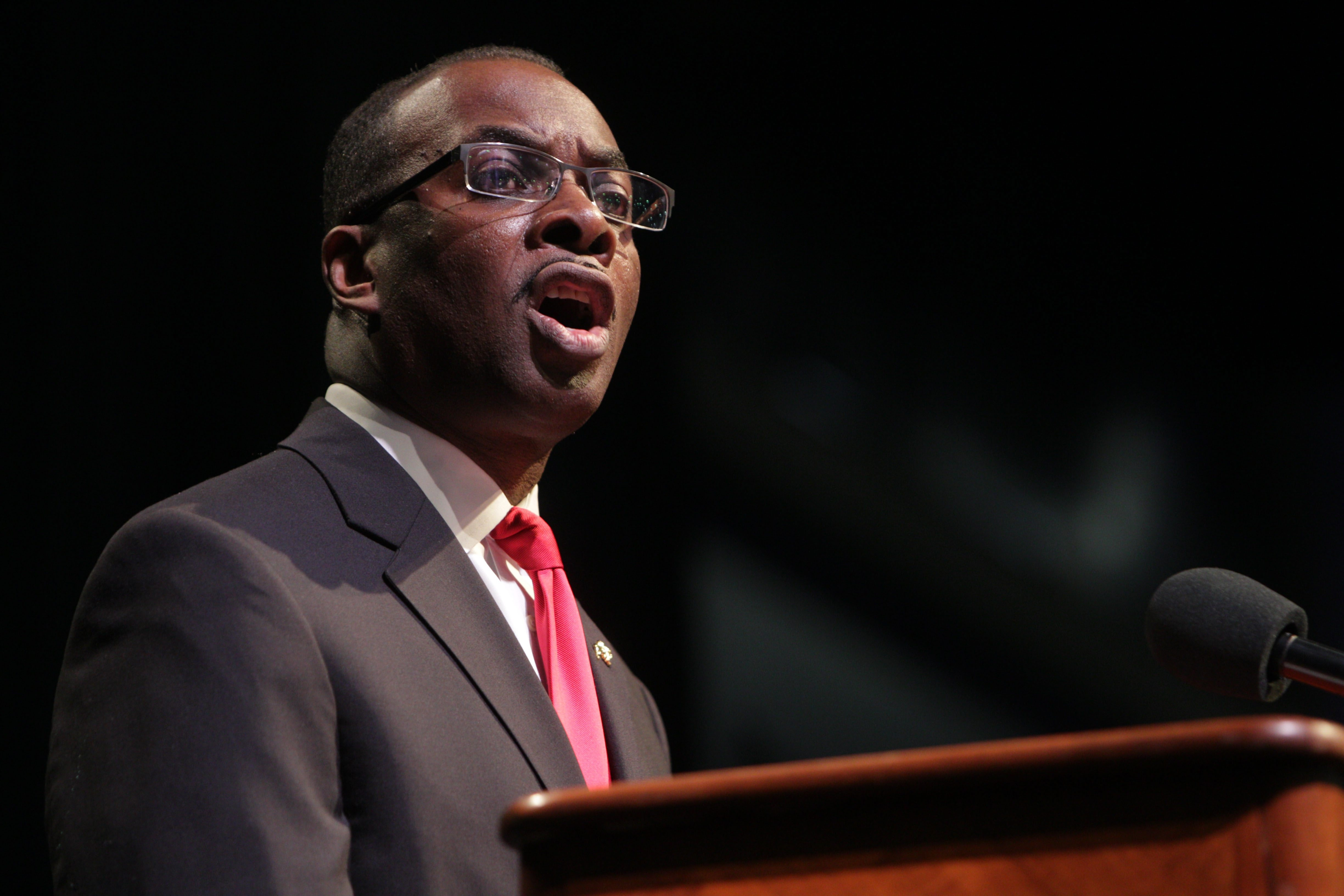 Mayor Byron Brown faces huge challenge if he attempts to seize control of schools. (Sharon Cantillon/Buffalo News file photo)