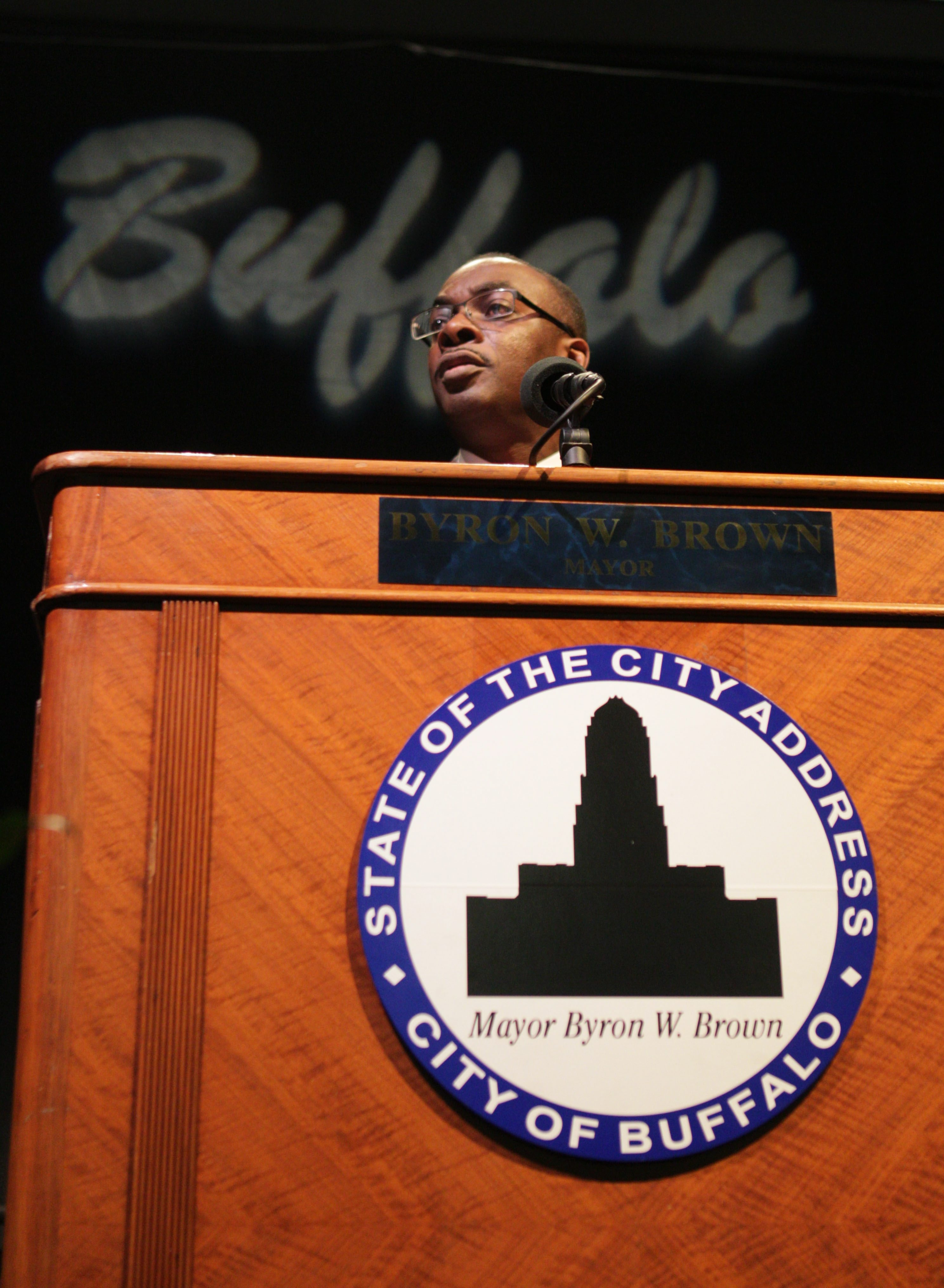 """""""I think people are concerned that the model that exists isn't working,"""" Mayor Byron Brown says, and """"are looking for hope."""""""