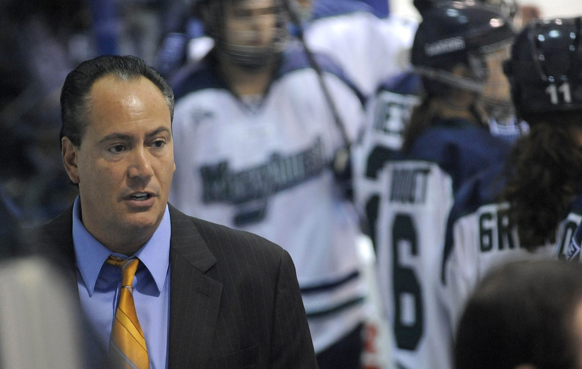 Michael Sisti, a former player and assistant coach at Canisius College, has built Mercyhurst women's hockey into a national powerhouse since taking over as coach in 1999-2000.  T
