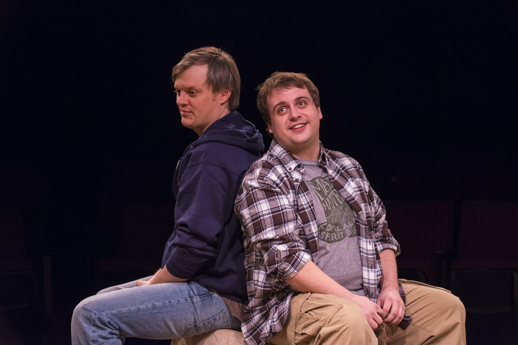 Christopher Evans and Kevin Craig star in the Irish Classical Theatre Company's production of 'Stones in His Pockets.'