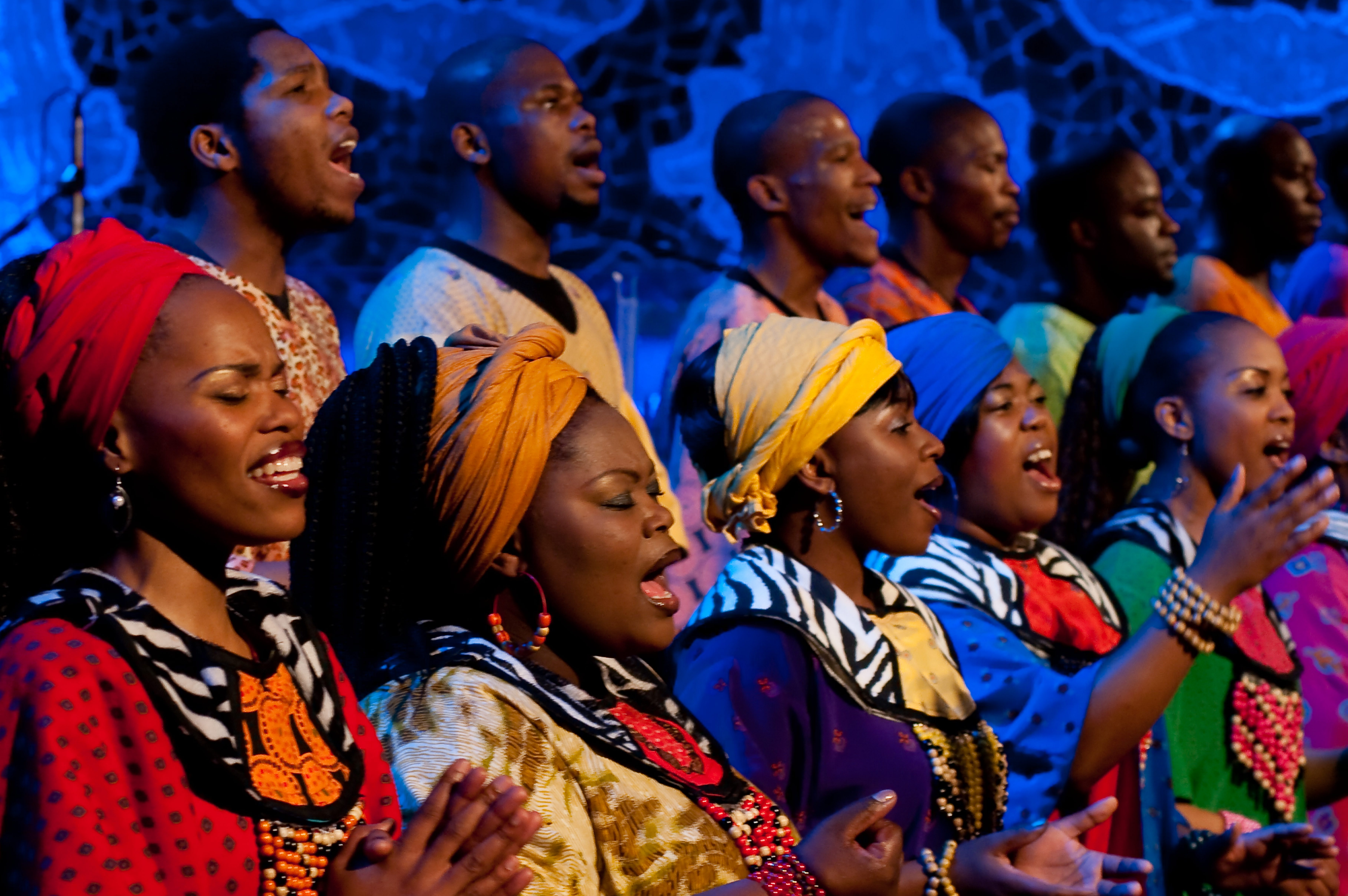 The Grammy-winning Soweto Gospel Choir performs at 8 p.m. Friday, Feb. 28, at the Riviera Theatre.