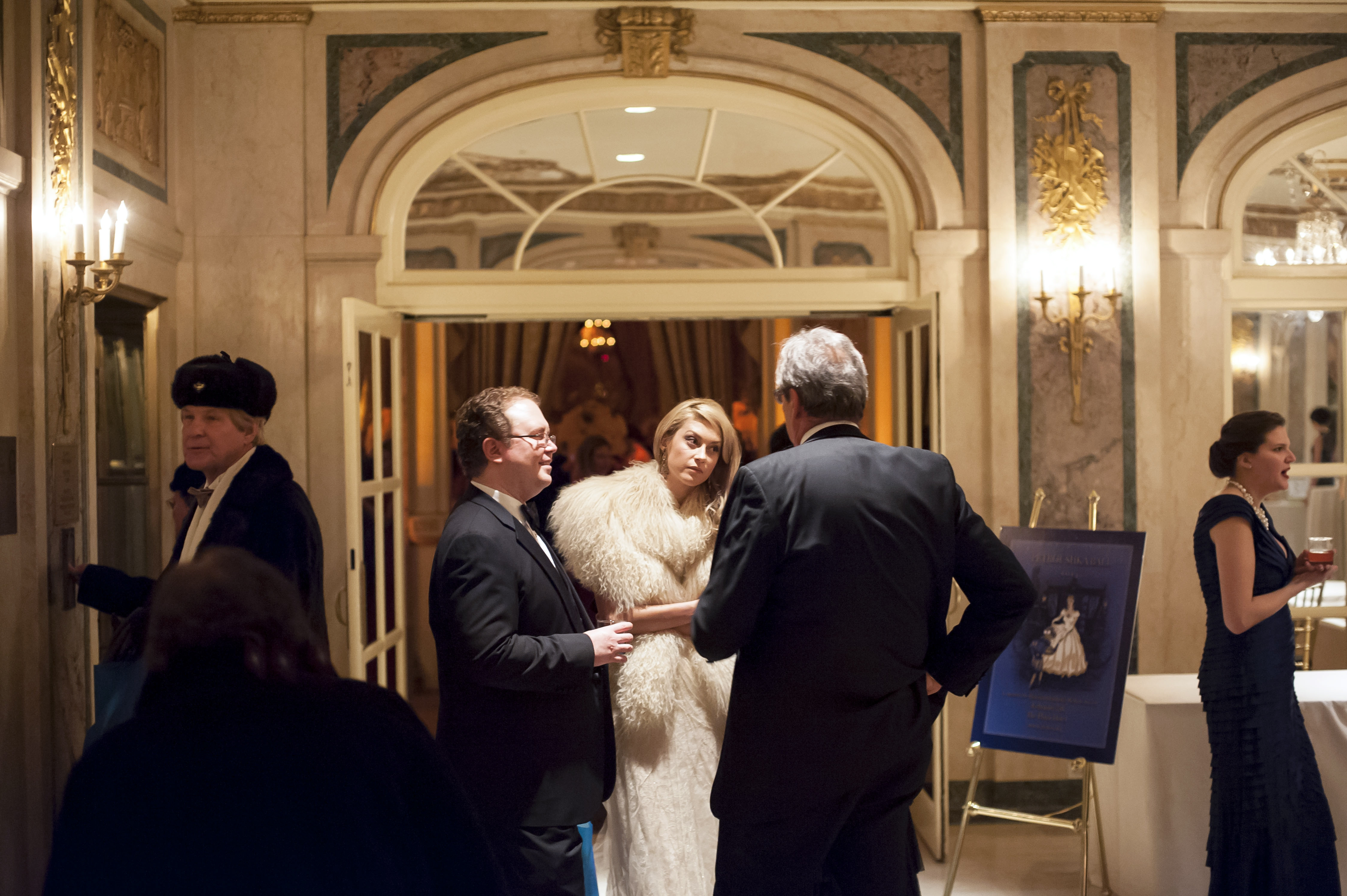 Attendees mingle during the Russian Children's Welfare Society's Petroushka Ball at the Plaza Hotel in New York on Feb. 7.