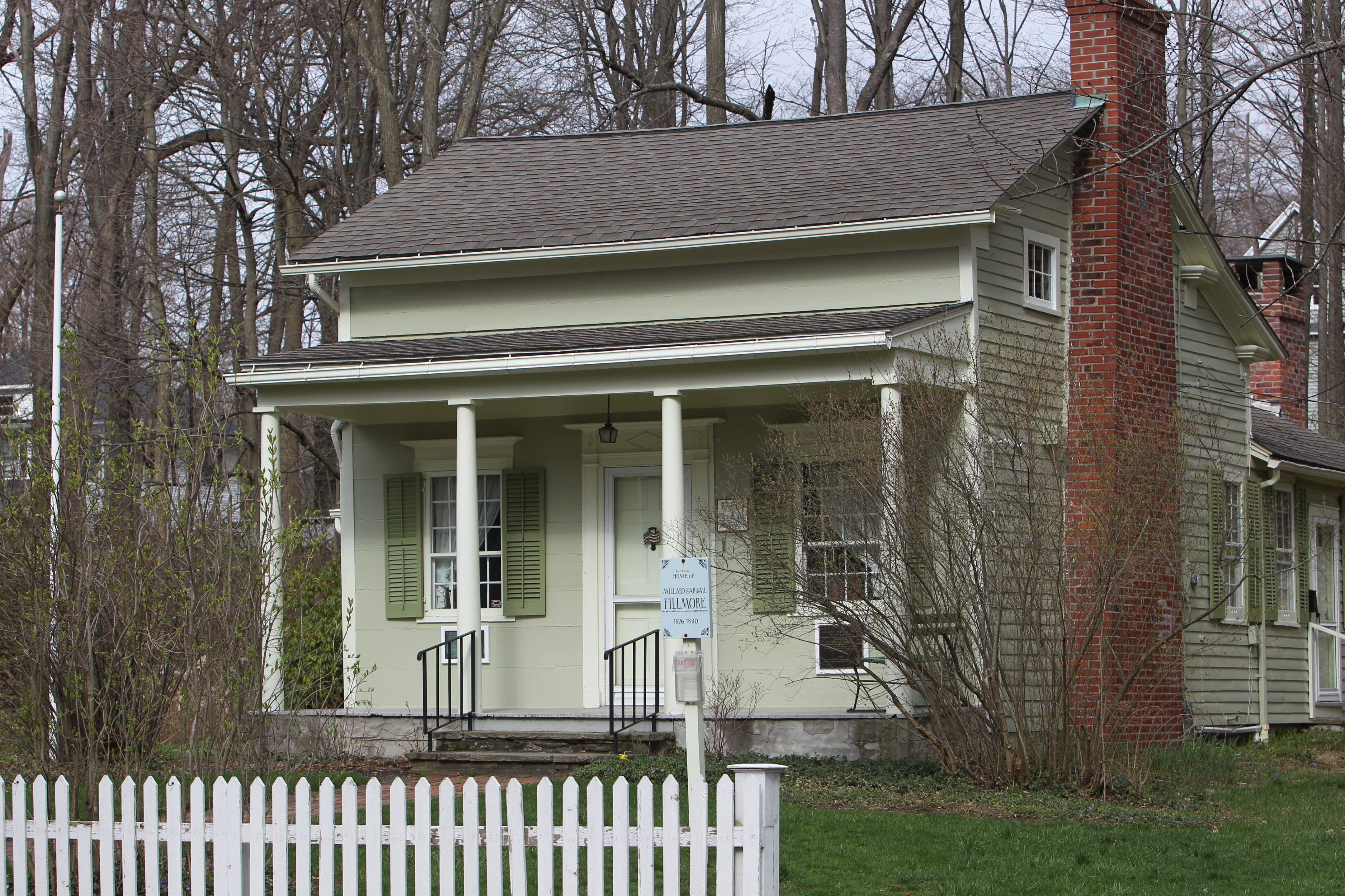 The Millard Fillmore House is located on Shearer Avenue in East Aurora. He and his wife, Abigail, lived there until 1830.