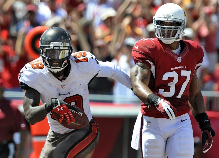 Tampa Bay Buccaneers wide receiver Mike Williams (19) was reportedly released from the hospital late Sunday after being allegedly stabbed in the thigh by his brother. (Associated Press)