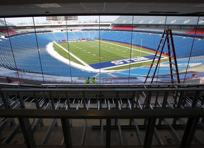 An overall shot of Ralph Wilson Stadium before the Buffalo Bills' game against the New England Patriots last September. (Harry Scull Jr. / Buffalo News)