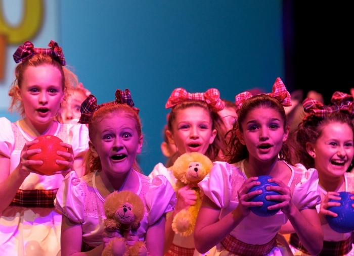 Students from Williamsville's Academy of Theatre Arts, shown here performing at a the 2012 Junior Theater Festival in Atlanta, will be included in a new theater education program sponsored by Shea's Performing Arts Program and iTheatrics. (Performers left to right: Emerson Adams, Michelle Tetro, Emma Lawley, Sidney Lawley and Angelina Capozzolo)