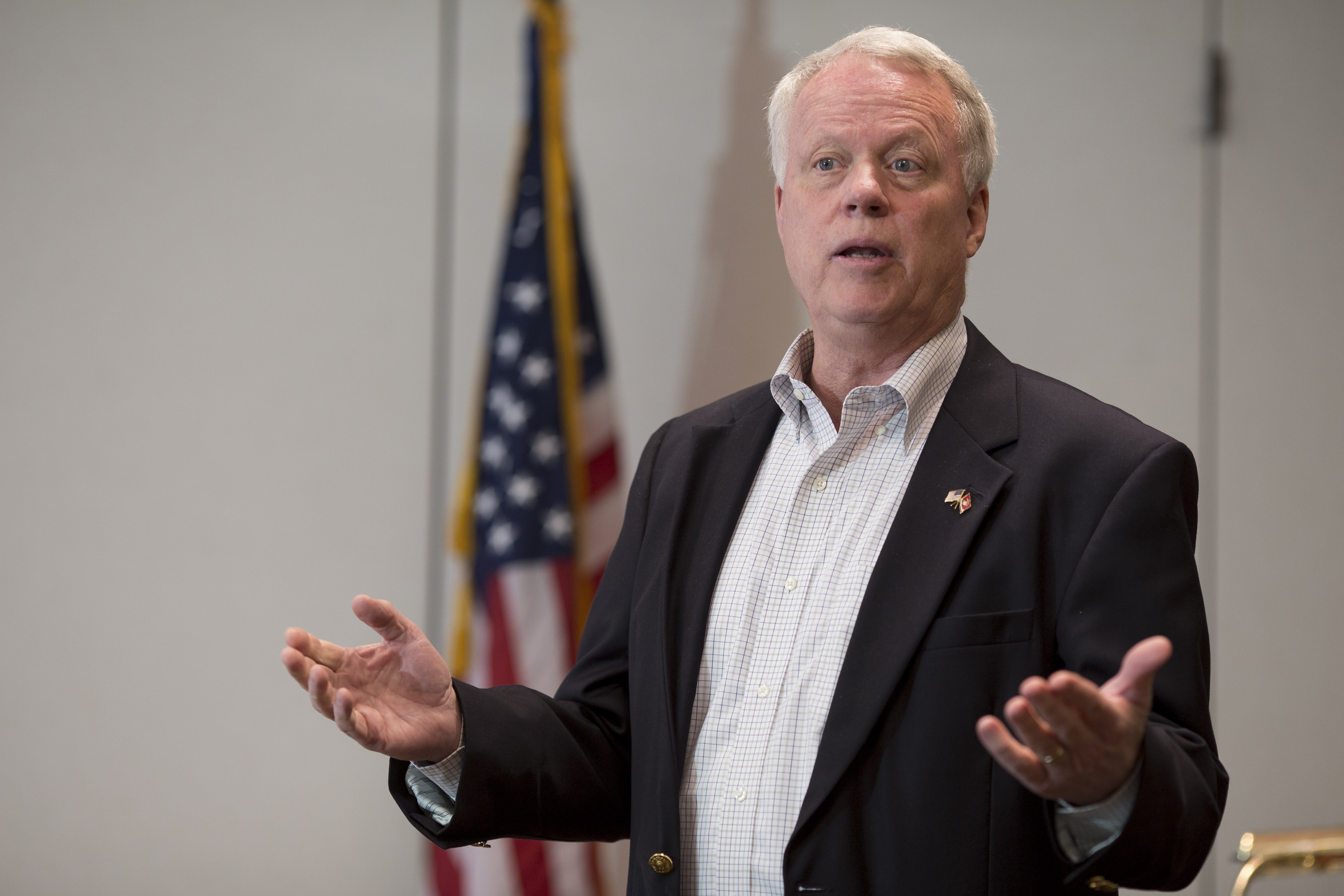 "Rep. Paul Broun, who is running for the Senate, accuses President Obama of ""leading from behind."""