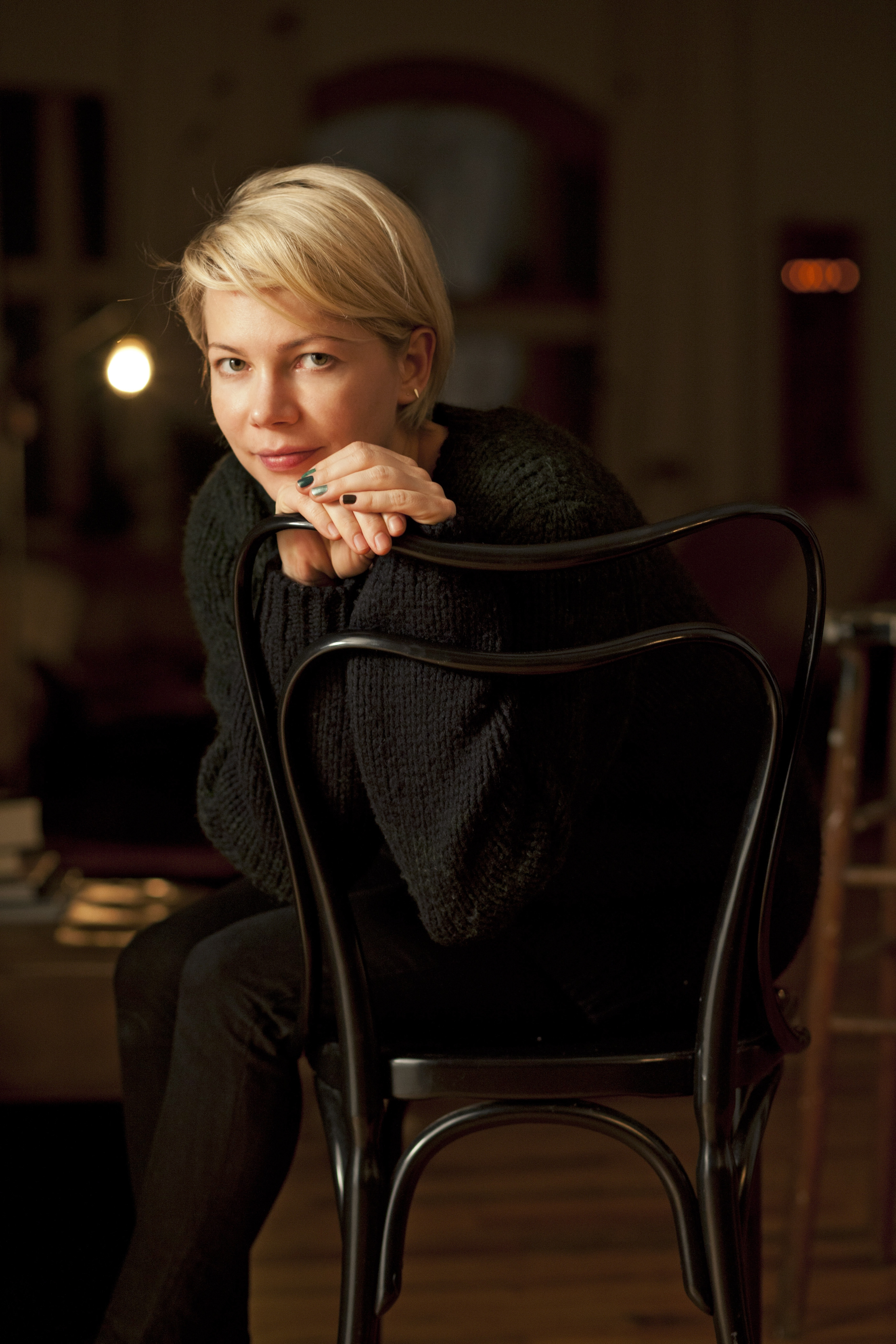 Michelle Williams, known for her movie and television work, is making her Broadway debut as Sally Bowles in the Roundabout Theater Company's resuscitation of its 1998 production of the musical. (Dan Estabrook/The New York Times) -- PHOTO MOVED IN ADVANCE AND NOT FOR USE - ONLINE OR IN PRINT - BEFORE MARCH 30, 2014.