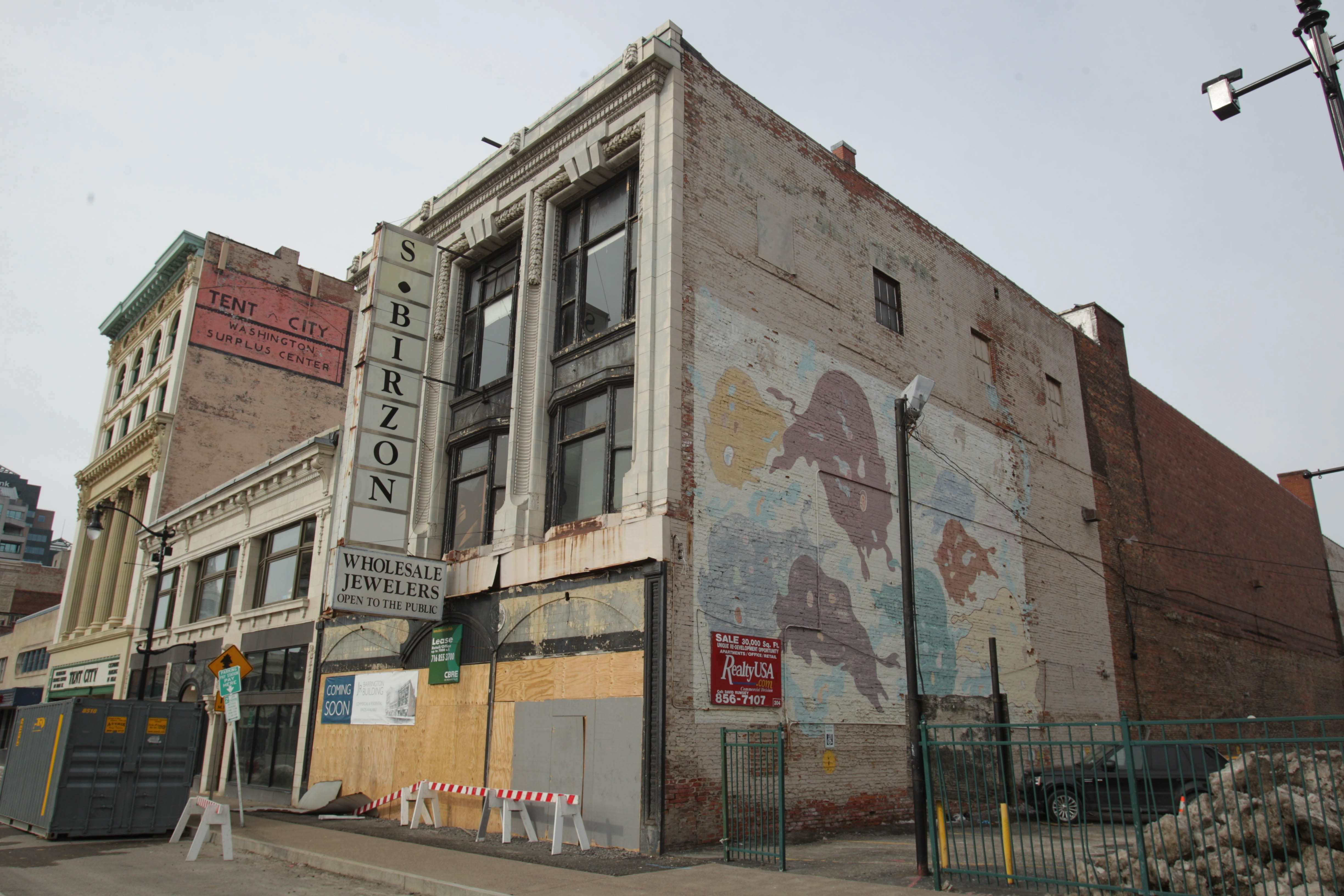 Erie County Clerk Christopher Jacobs and Paul Kolkmeyer have purchased the former Birzon building at 686 Main St.