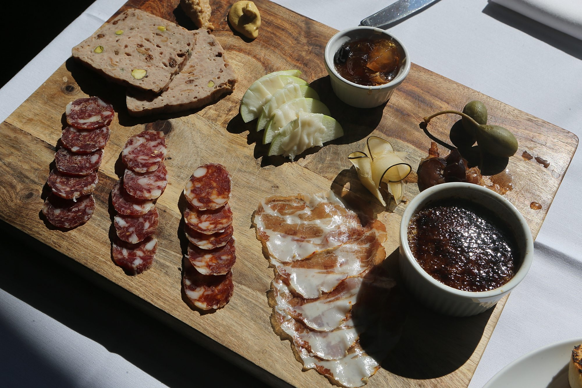 The popular charcuterie platter at Tabree restaurant in Snyder features a sampling of cured meats.