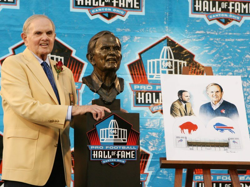 Ralph C. Wilson Jr., a 2009 inductee into the Pro Football Hall of Fame, did not put Buffalo on the map, but he did as much as anyone to keep it there during his lifetime. (James P. McCoy / Buffalo News)