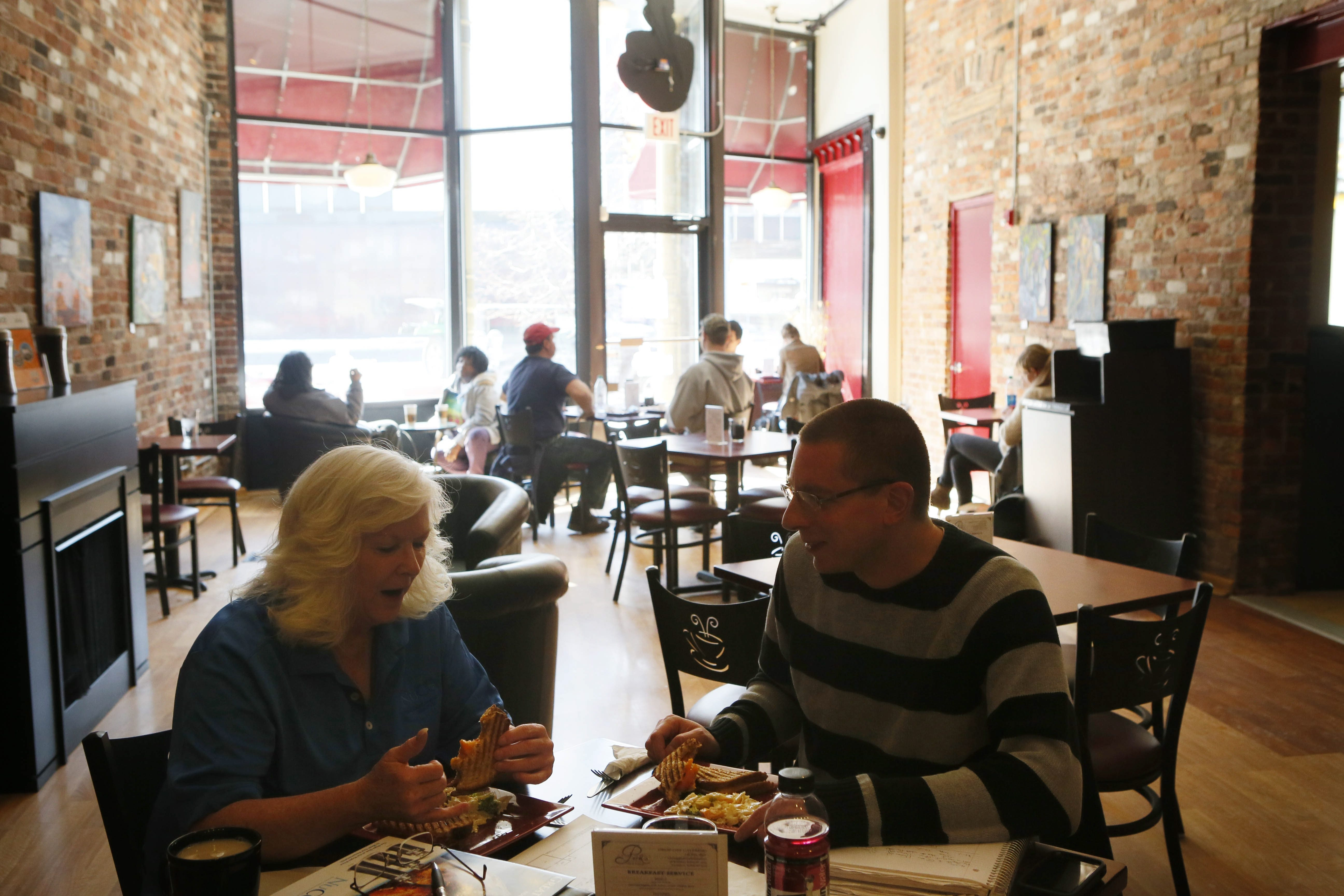 Perk's Café on Broadway is the perfect lunch spot for busy downtown workers.