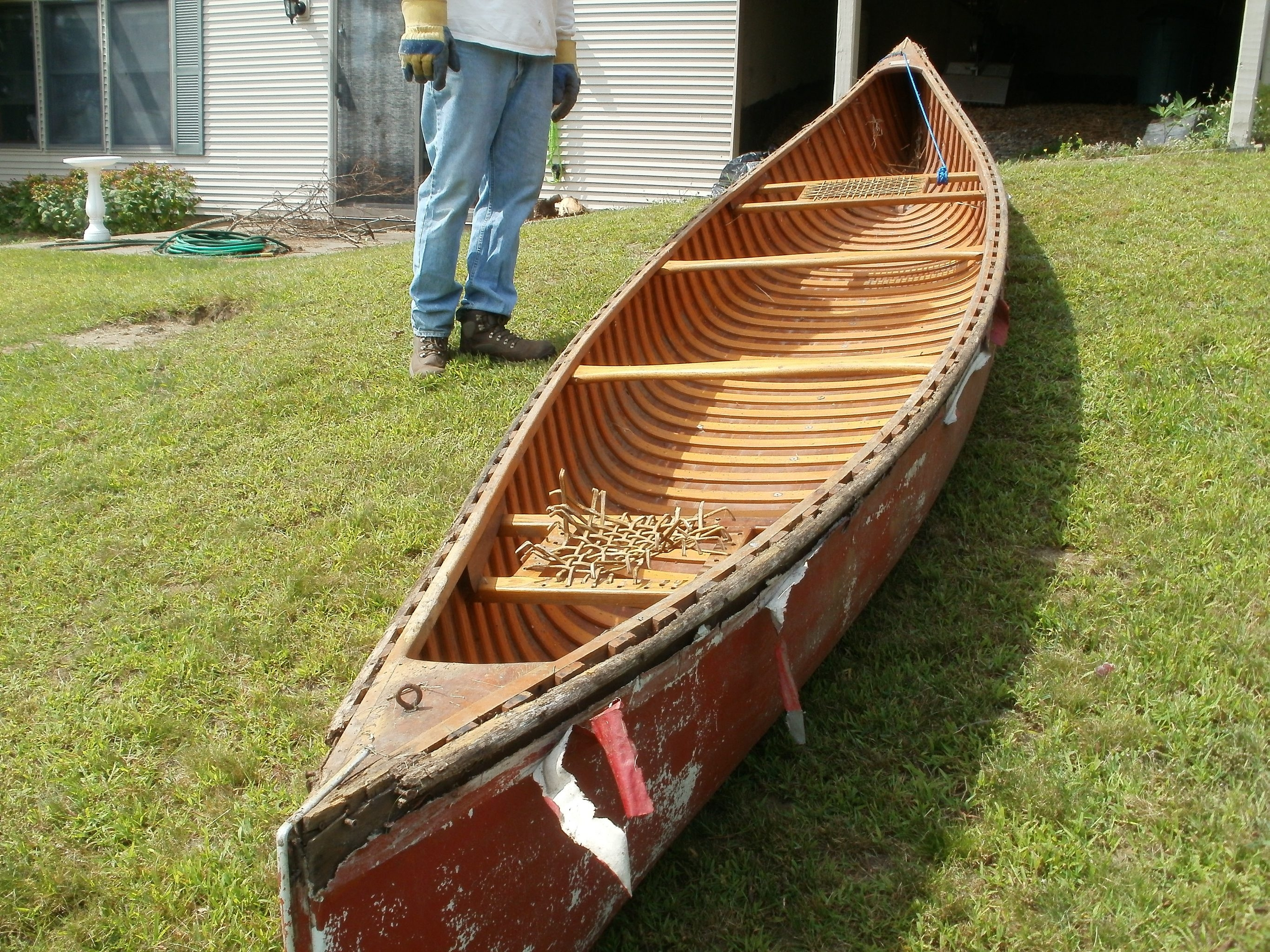 The vintage canoe that once belonged to the late John Zale is being repaired and restored and will be donated to the Boy Scouts of the Greater Niagara Frontier Council. The council's leaders said they will display the canoe as part of the organization's local history.