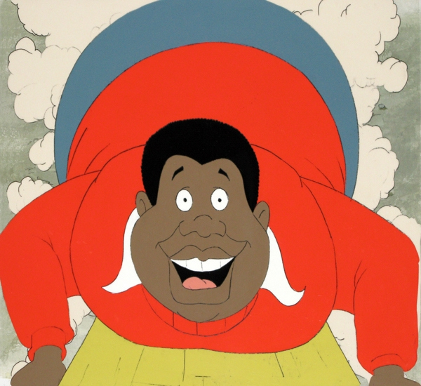 In an undated handout image, Fat Albert, from 'Fat Albert and the Cosby Kids,' a cartoon that ran from 1972 to 1985. The proprietors of the Museum of UnCut Funk, an online and traveling exhibit celebrating black culture of the 1970s, say that Fat Albert and other cartoons of the era represent more than entertaining nostalgia, but also the fruits of a struggle for equality and representation. (Collection of Museum of UnCut Funk via The New York Times) -- NO SALES; FOR EDITORIAL USE ONLY WITH STORY SLUGGED BLACK-ANIMATION-EXHIBIT BY LEE. ALL OTHER USE PROHIBITED.