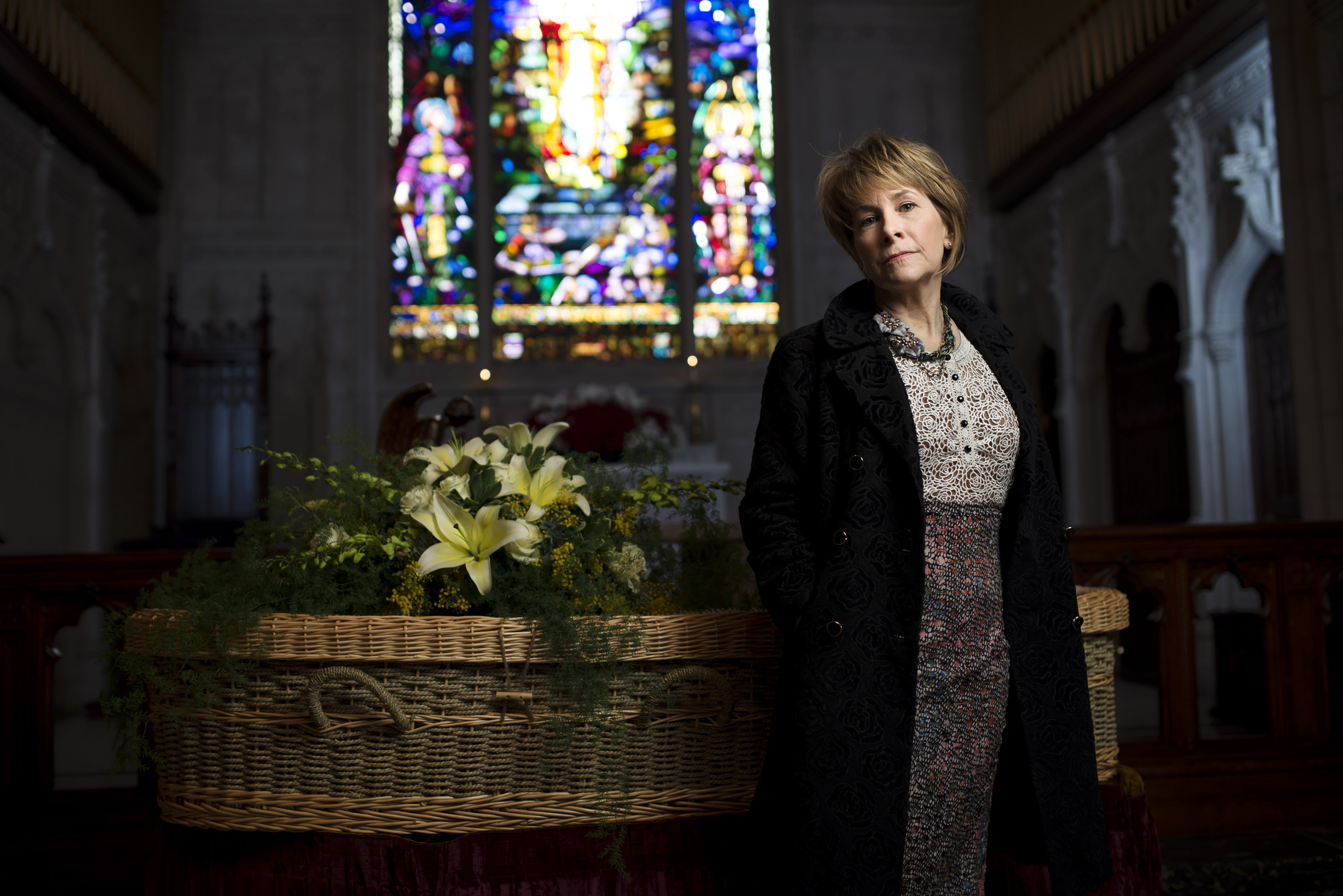 Amy Cunningham believes that as baby boomers die in increasing numbers, the environmentally friendly approach to funerals will become even more popular.