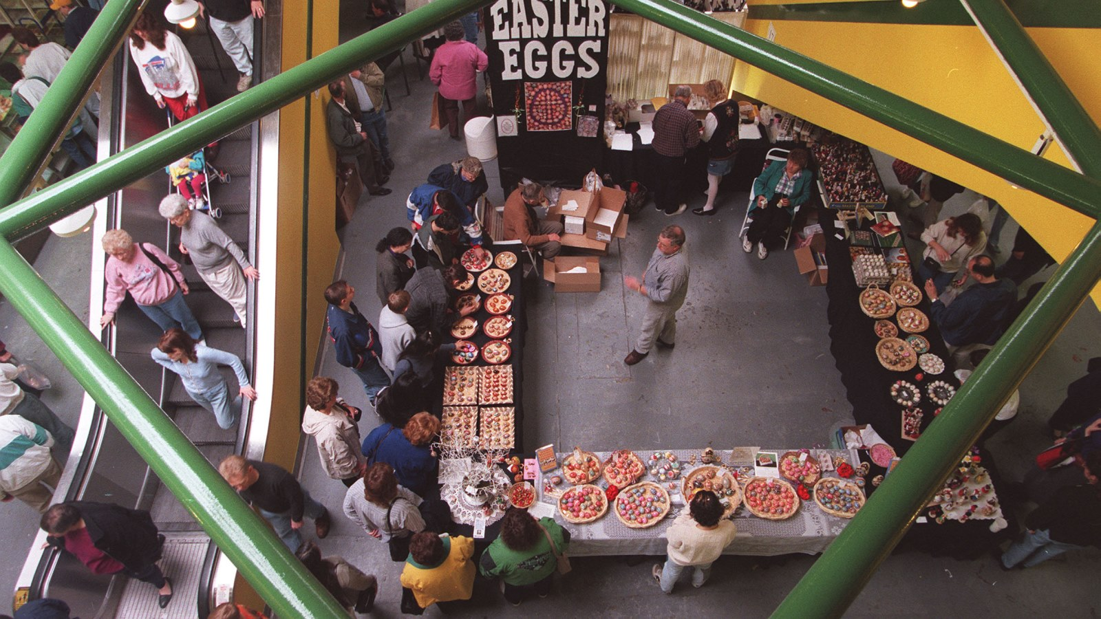 Fifteen years following the story pictured below, shoppers again flocked to the Broadway Market prior to Easter, here April 2, 1999. (Robert Kirkham/Buffalo News)
